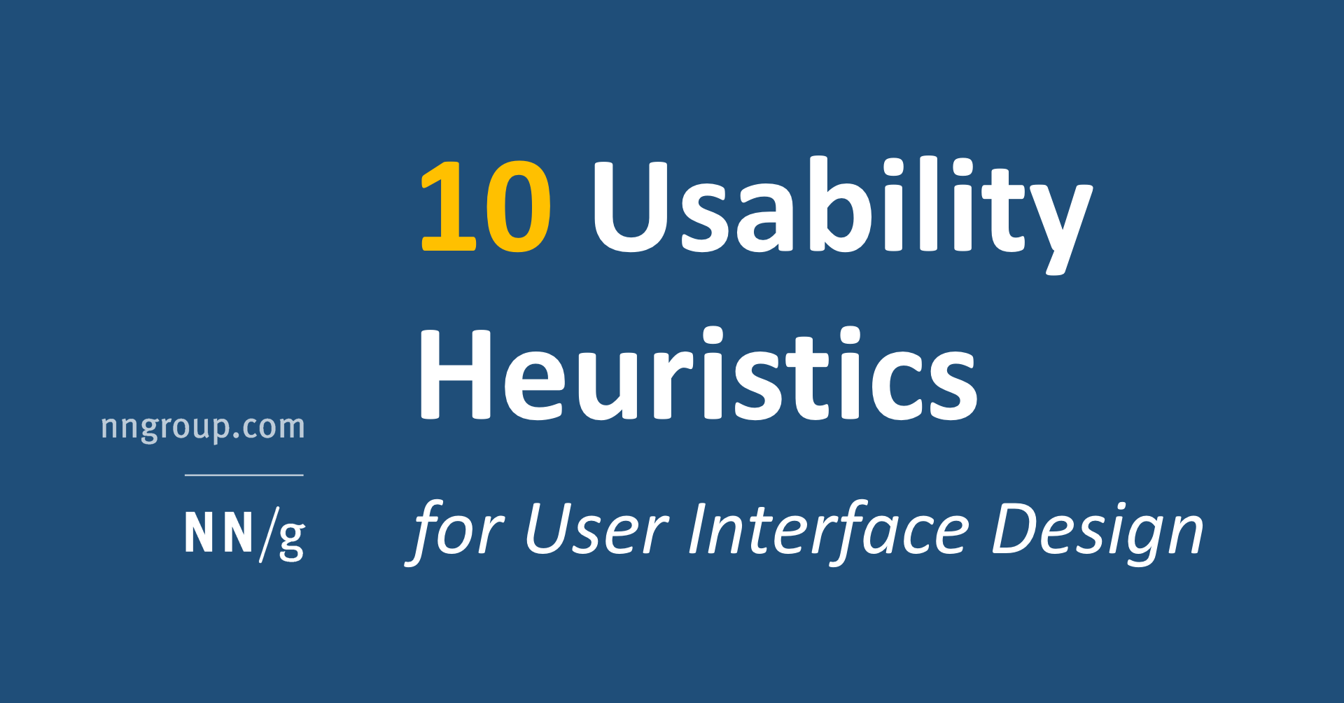 10 Heuristics For User Interface Design Article By Jakob Nielsen