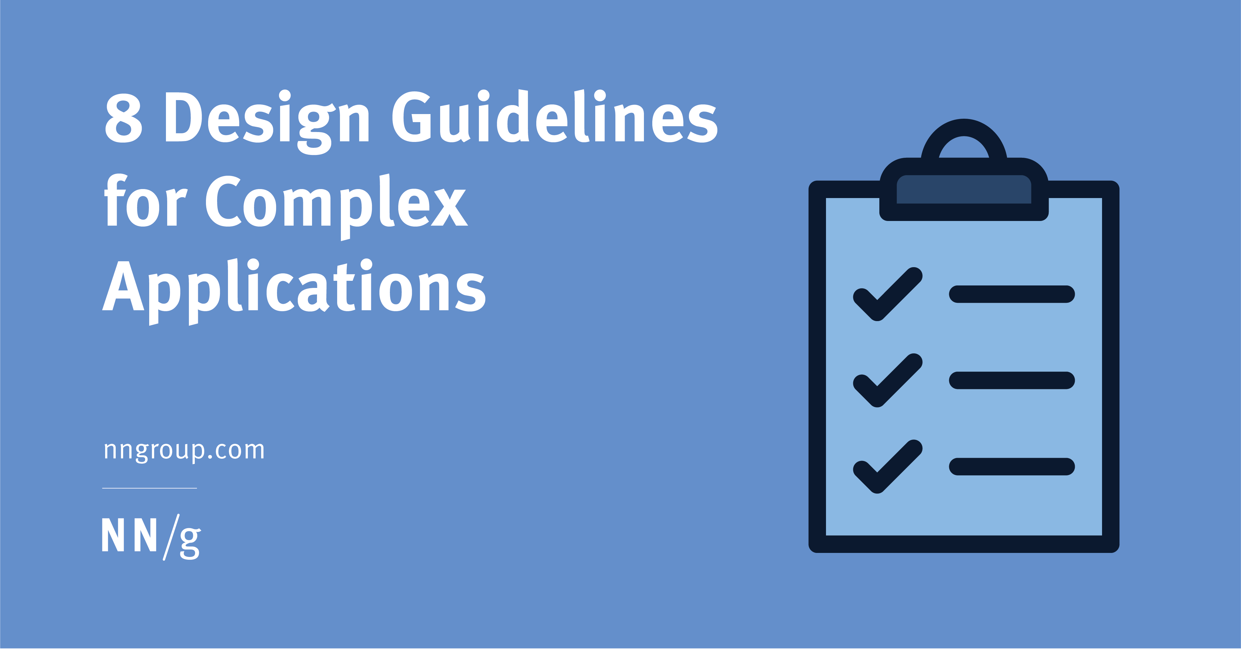 8 Design Guidelines for Complex Applications