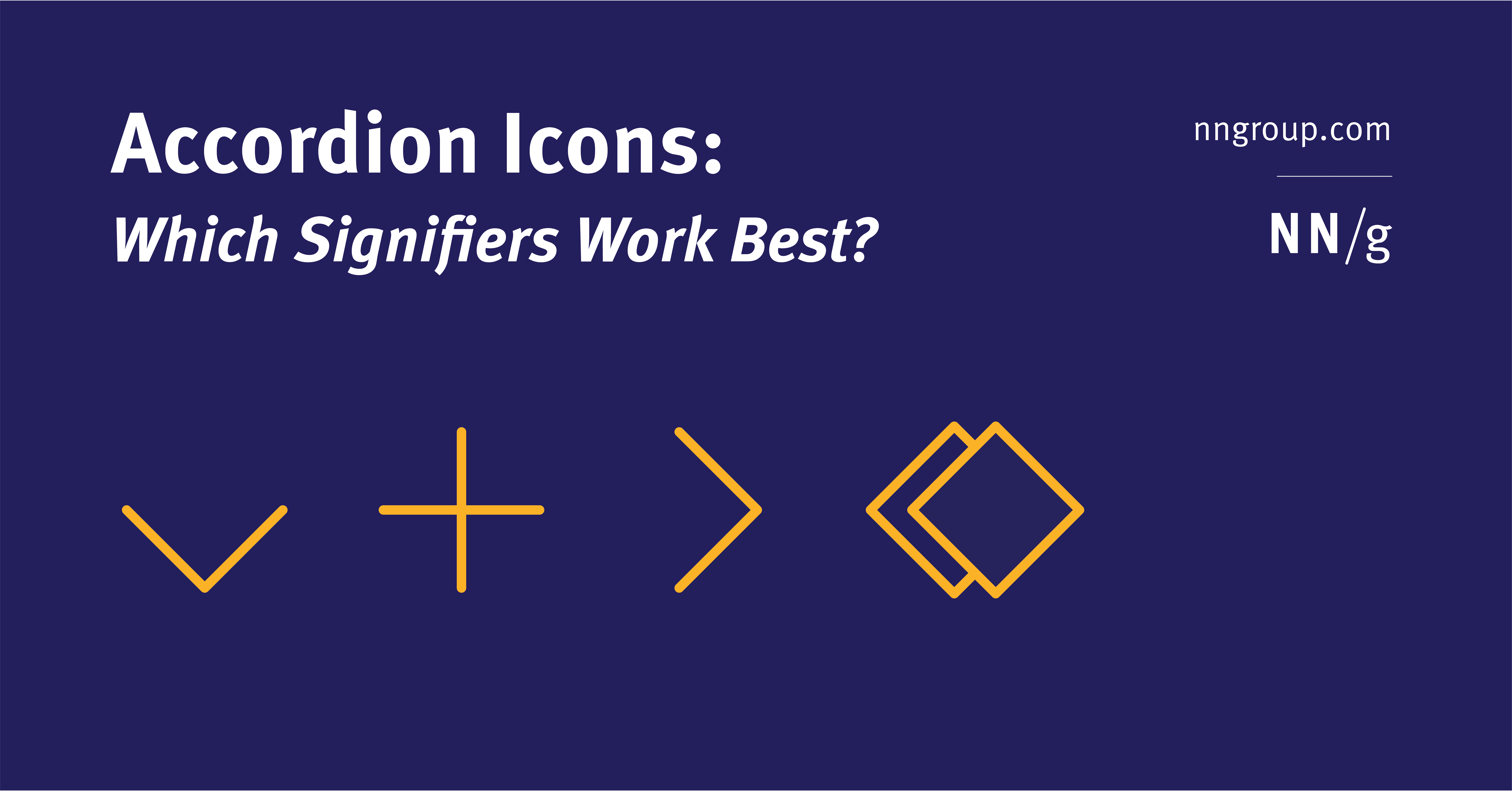 Accordion Icons: Which Signifiers Work Best?