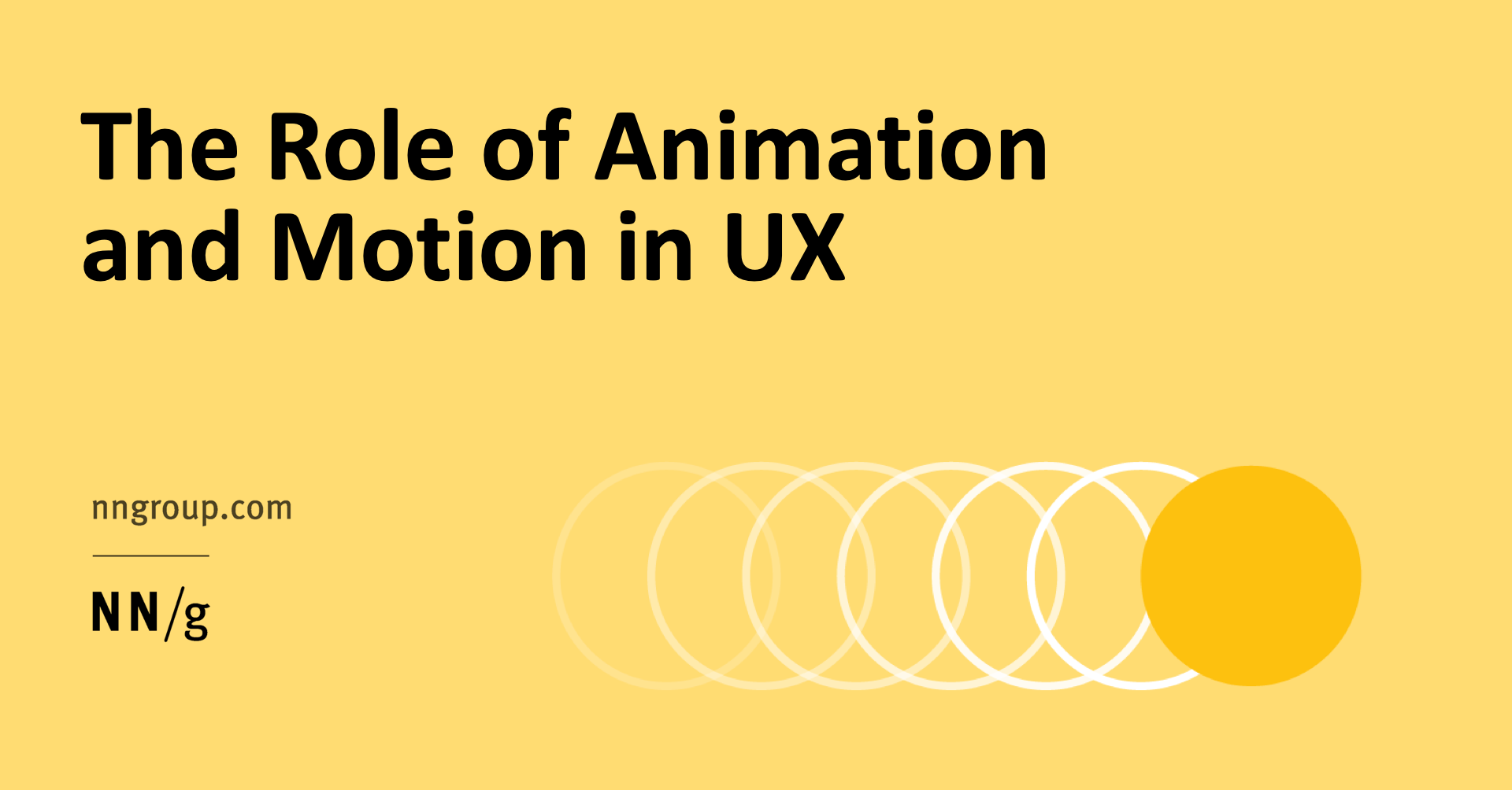 The Role Of Animation And Motion In Ux