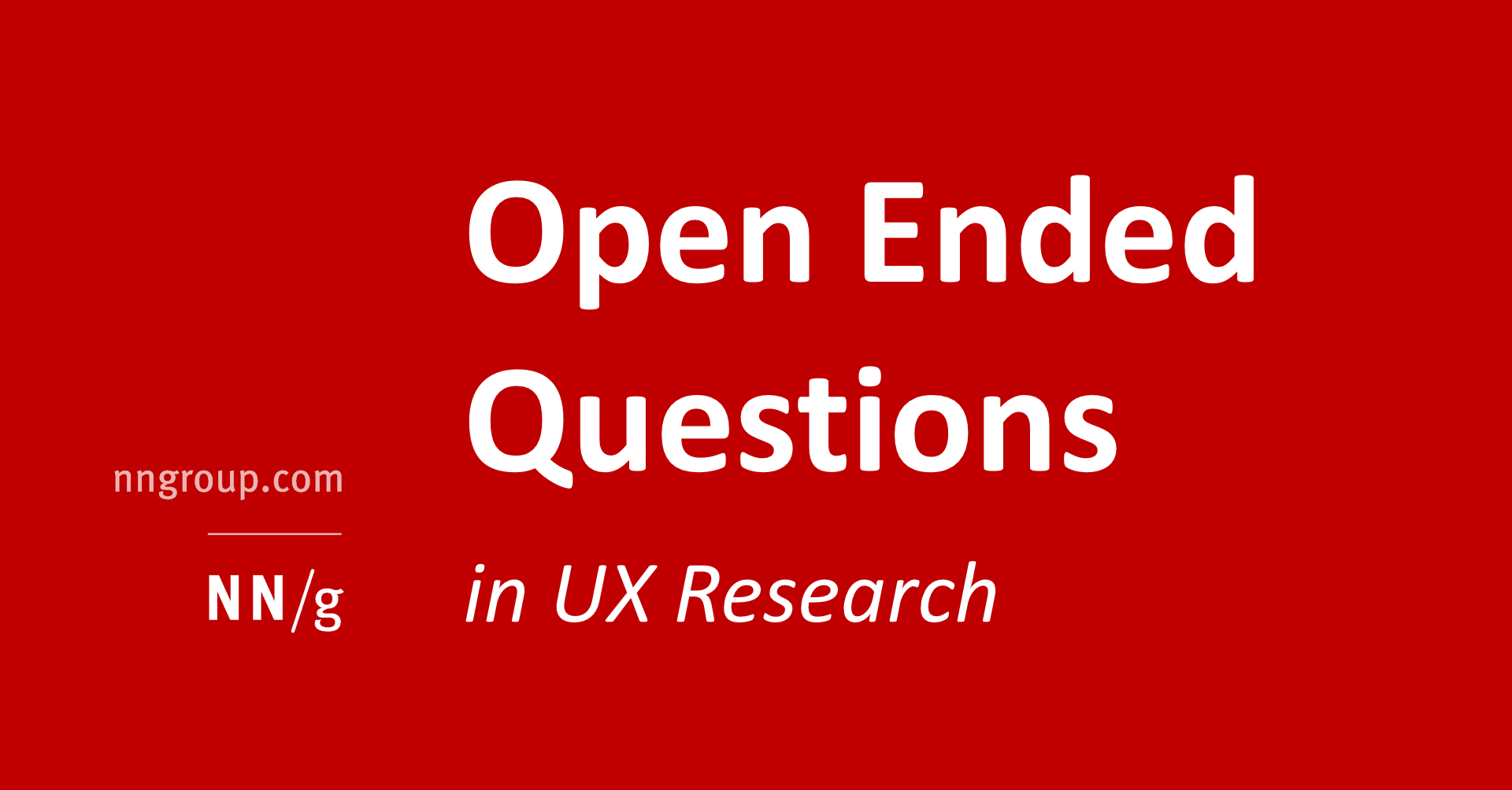 Closed Ended Questions In User Research