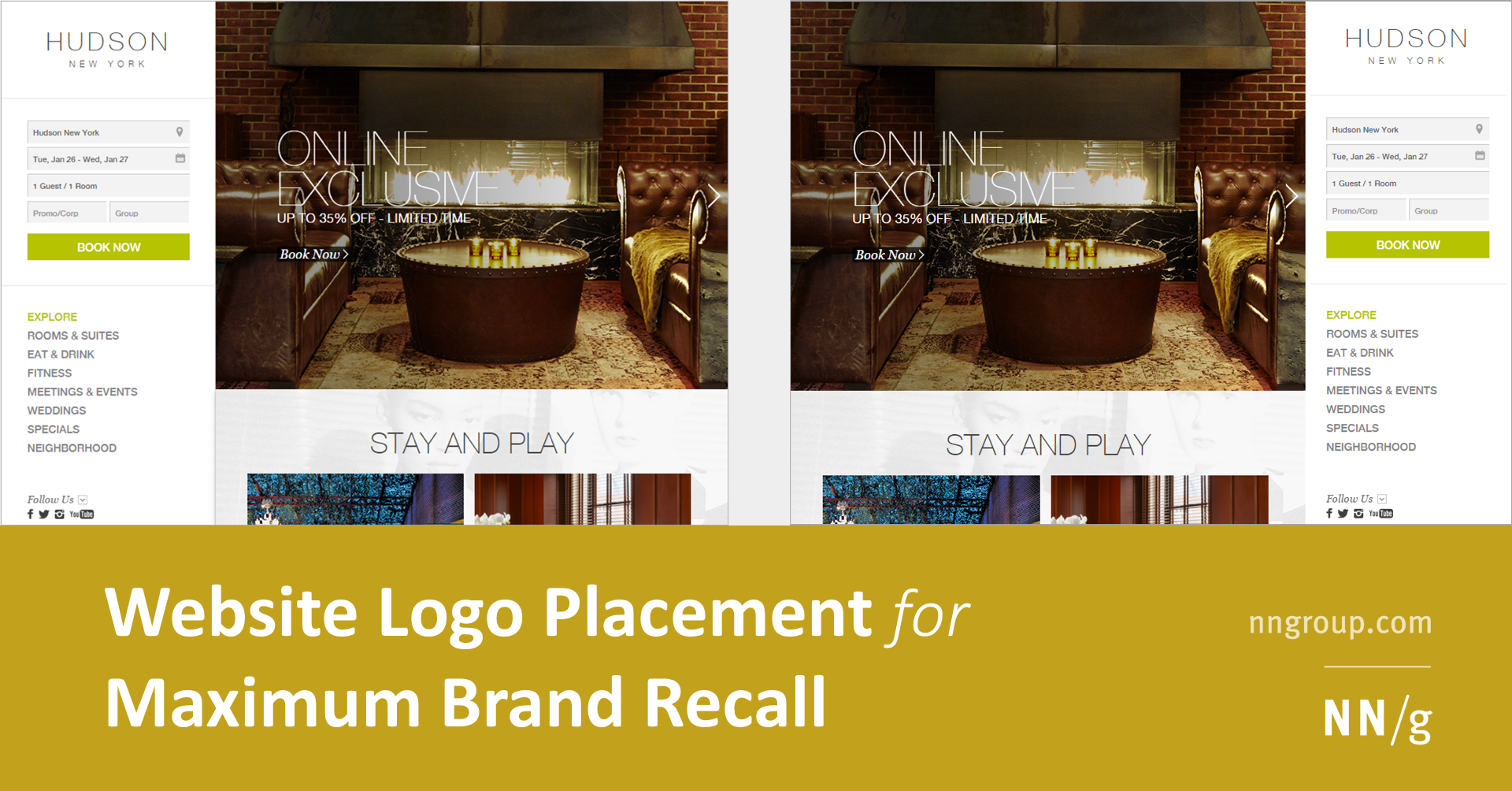 Website Logo Placement for Maximum Brand Recall
