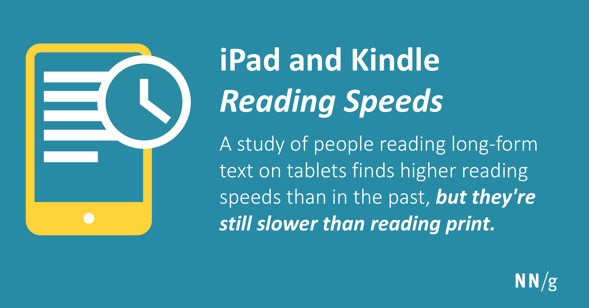 iPad and Kindle Reading Speeds