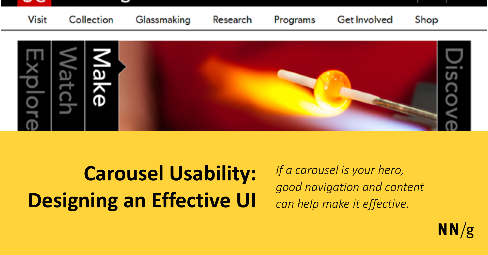Carousel Usability: Designing an Effective UI for Websites with