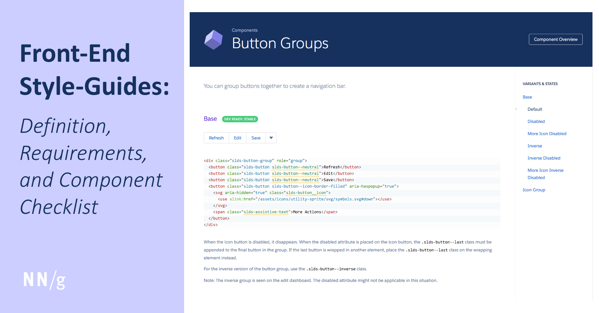 Front-End Style-Guides: Definition, Requirements, Component Checklist