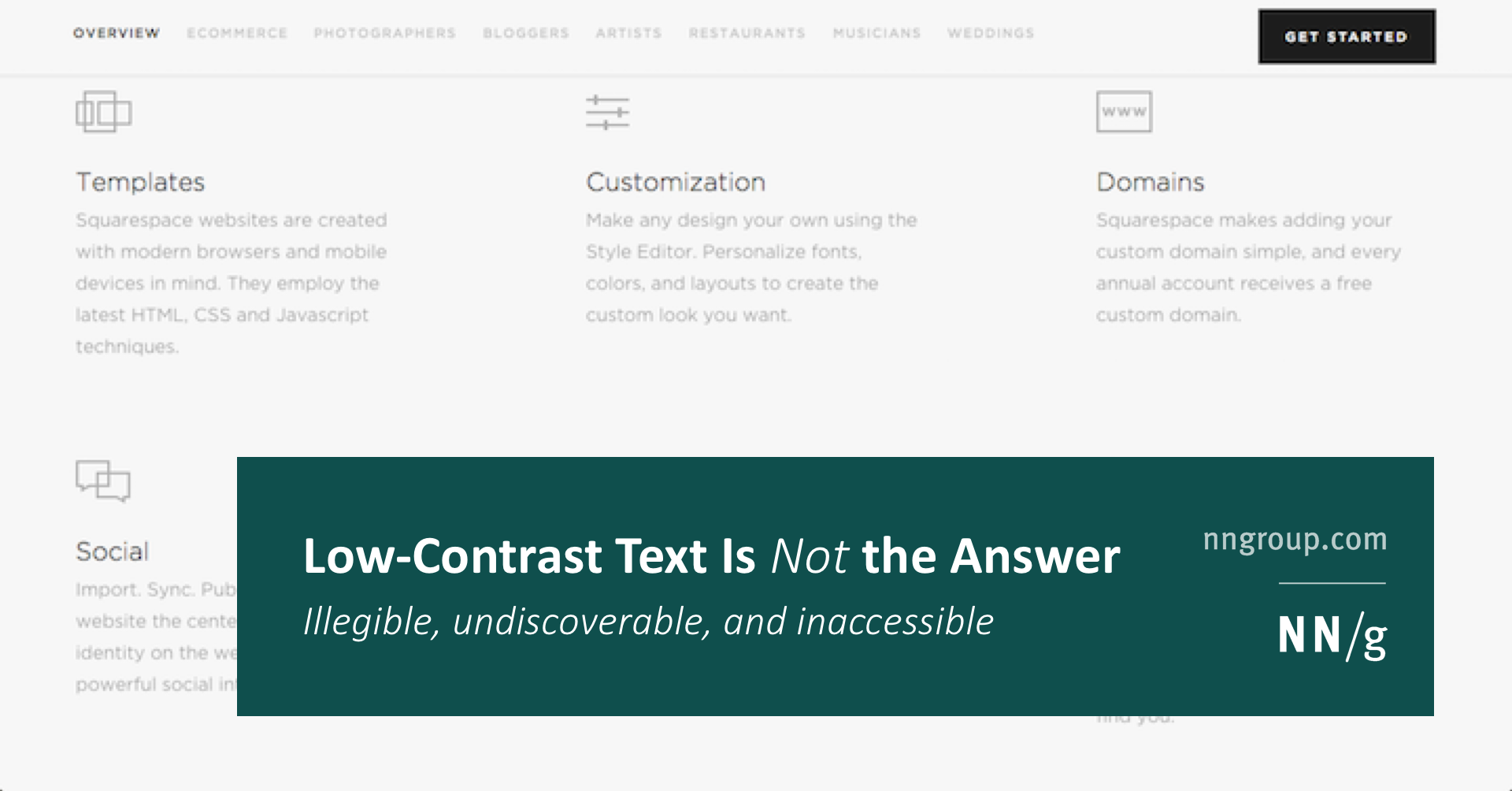 Low-Contrast Text Is Not the Answer