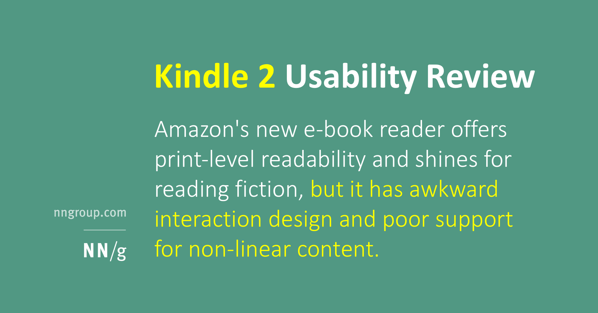 Kindle 2 Usability Review