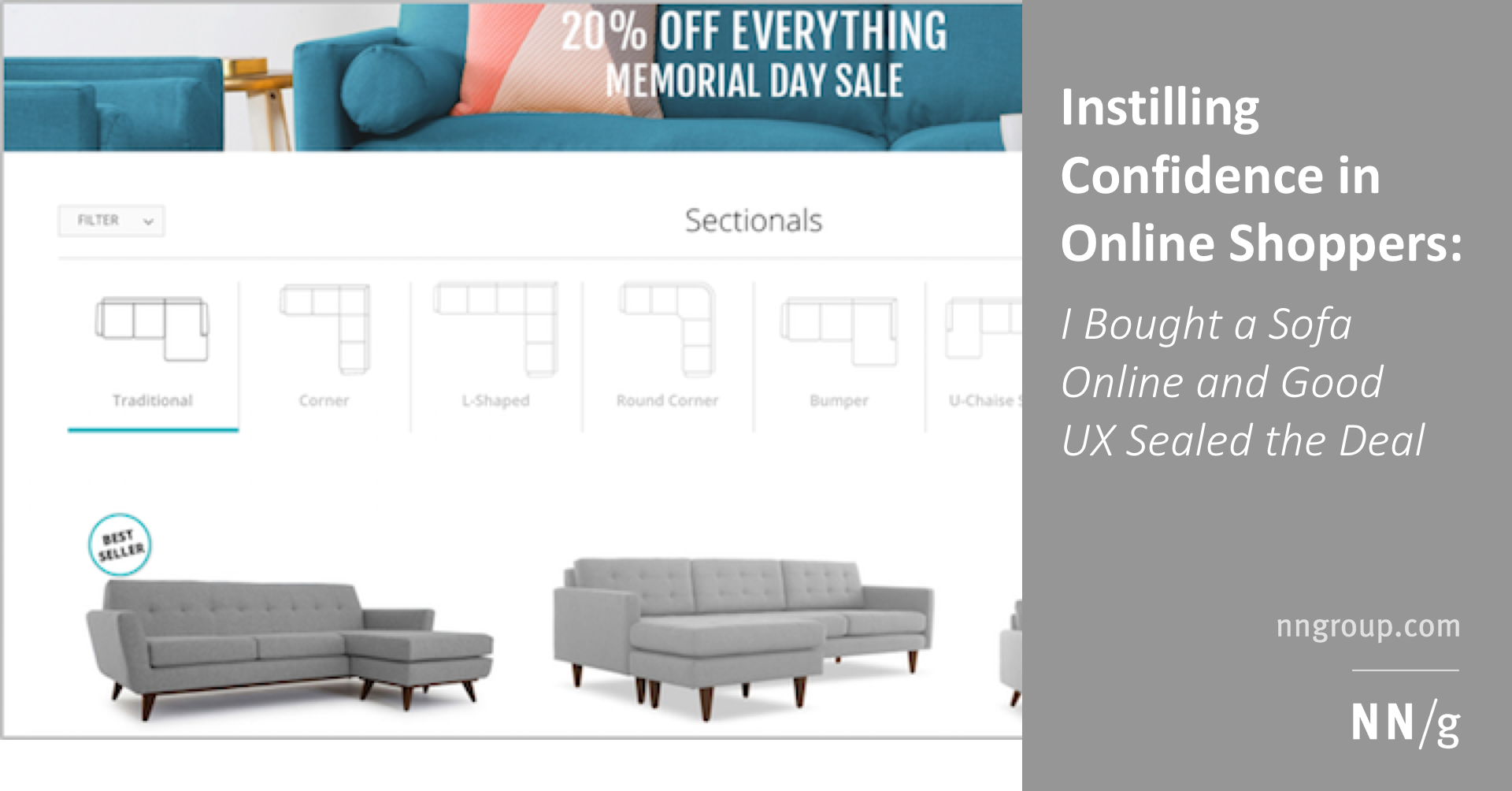 Instilling Confidence in Online Shoppers: I Bought a Sofa Online and ...