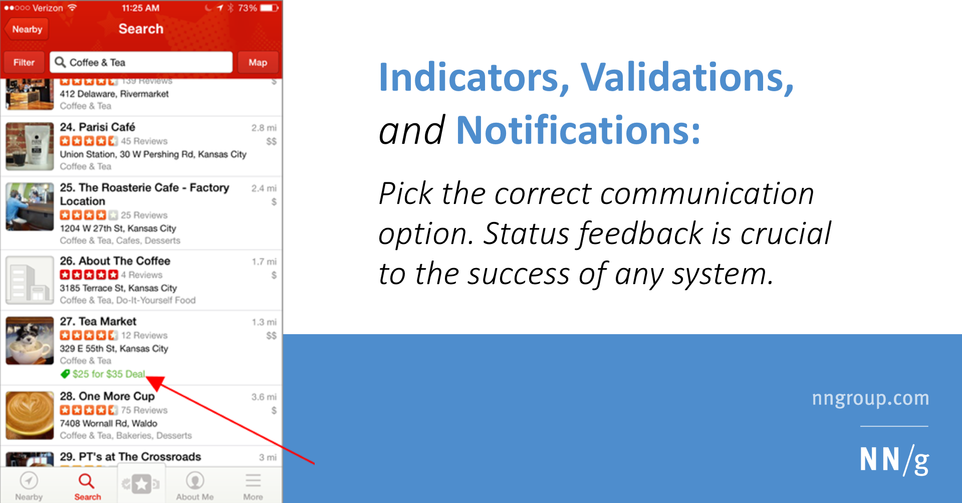 Indicators, Validations, and Notifications: Pick the Correct