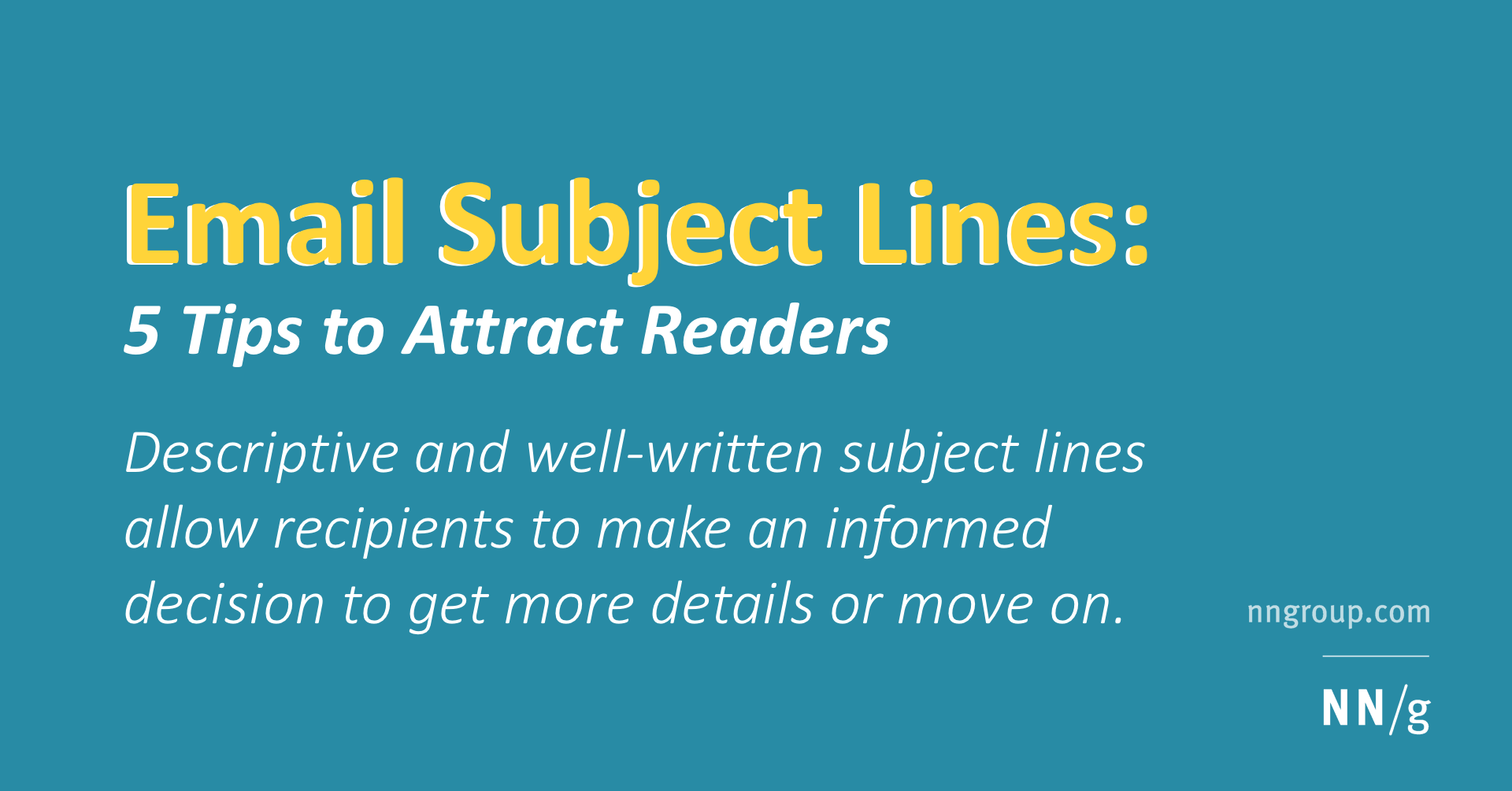 email subject lines 5 tips to attract readers