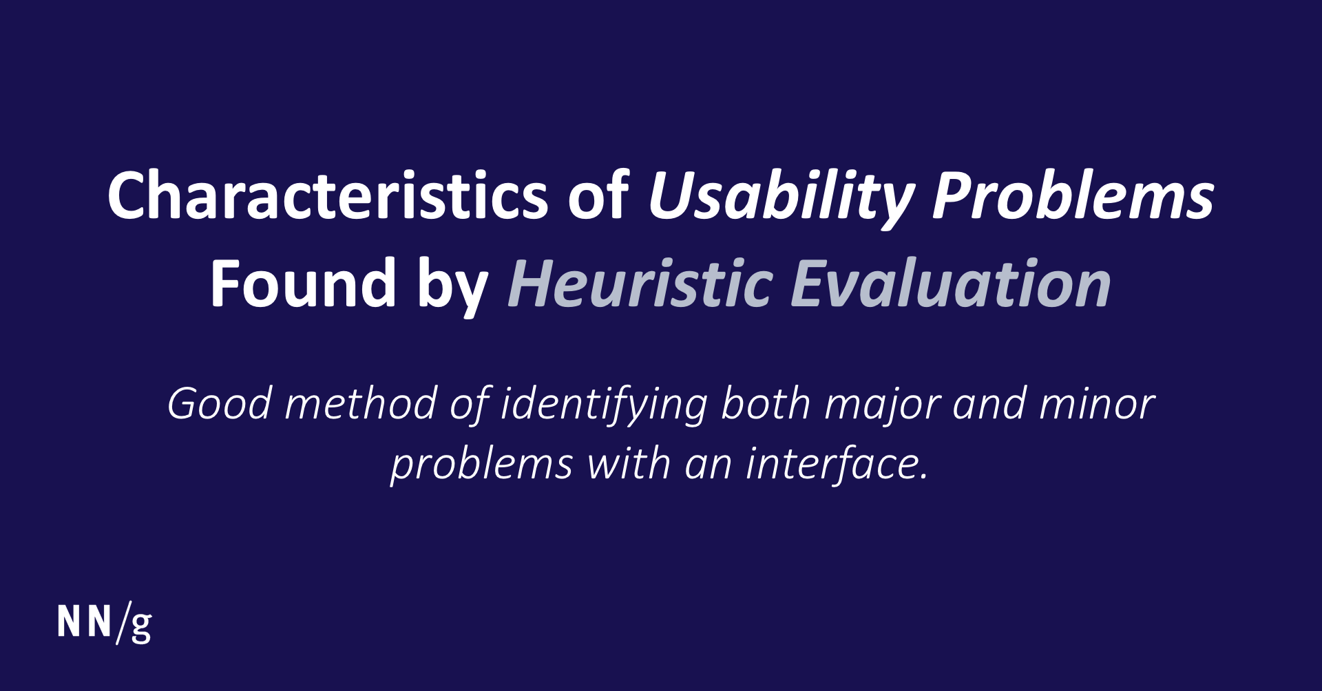 heuristic evaluation definition