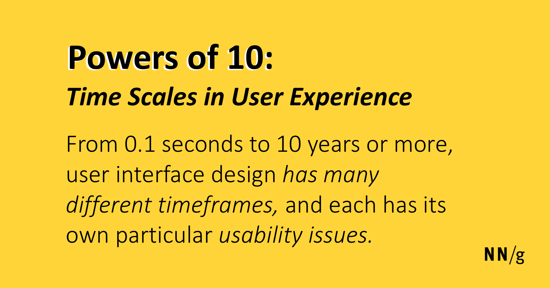 Powers Of 10 Time Scales In User Experience