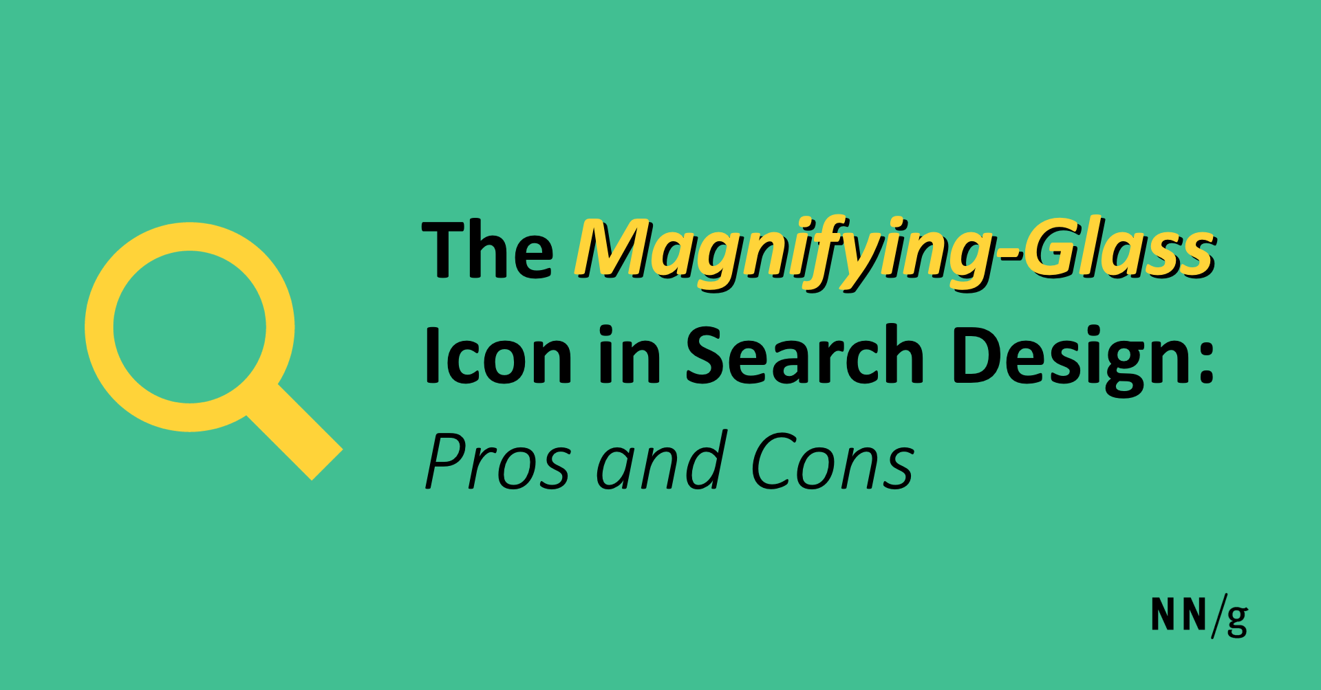 The Magnifying Glass Icon In Search Design Pros And Cons