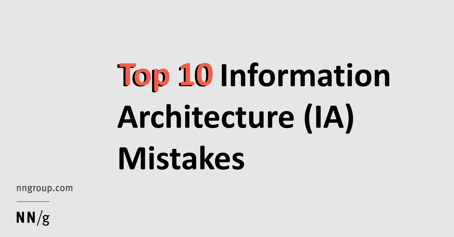 World Famous Architects Top 10 Information Architecture Ia Mistakes