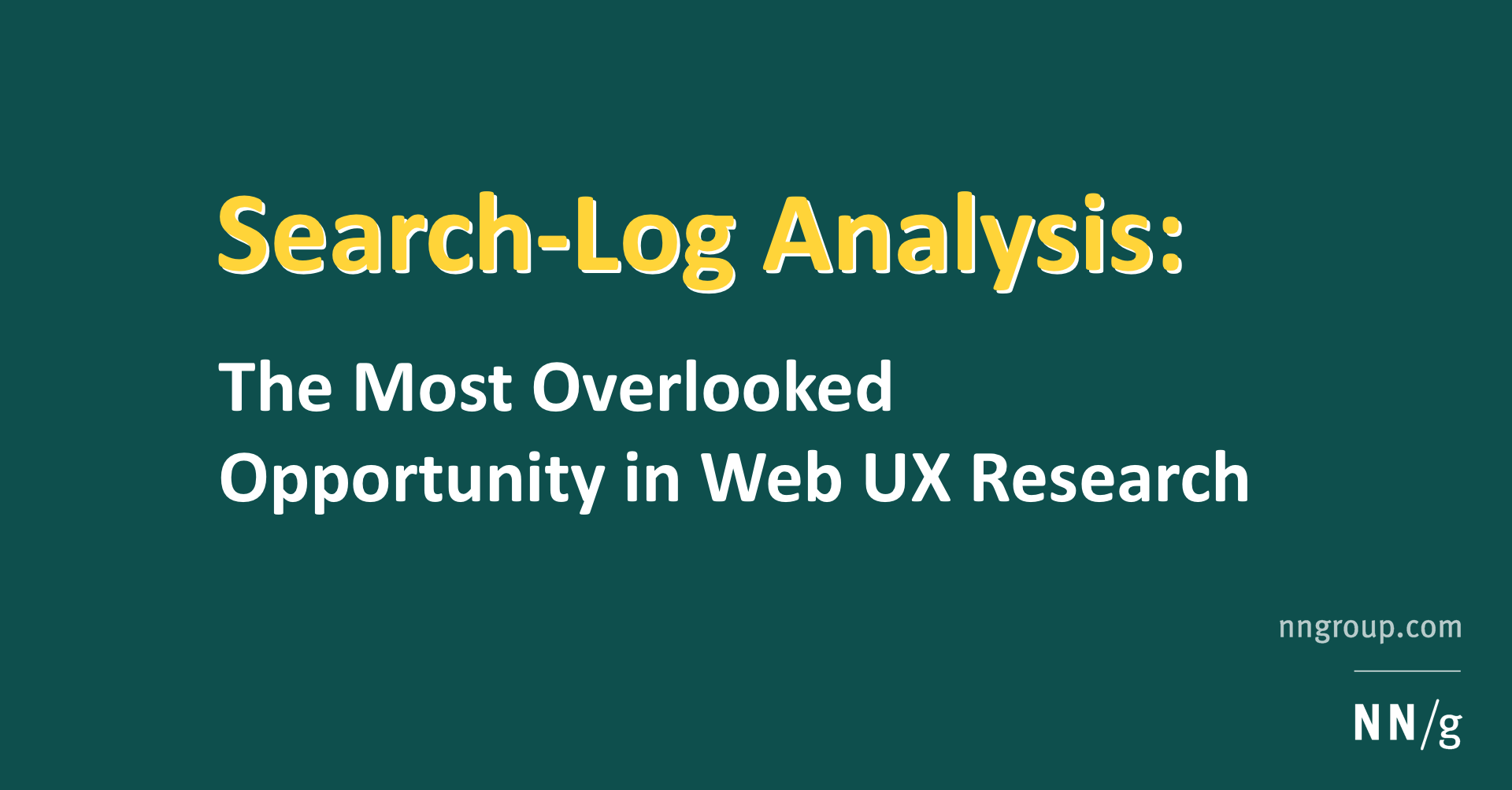 Search-Log Analysis: The Most Overlooked Opportunity in Web UX Research