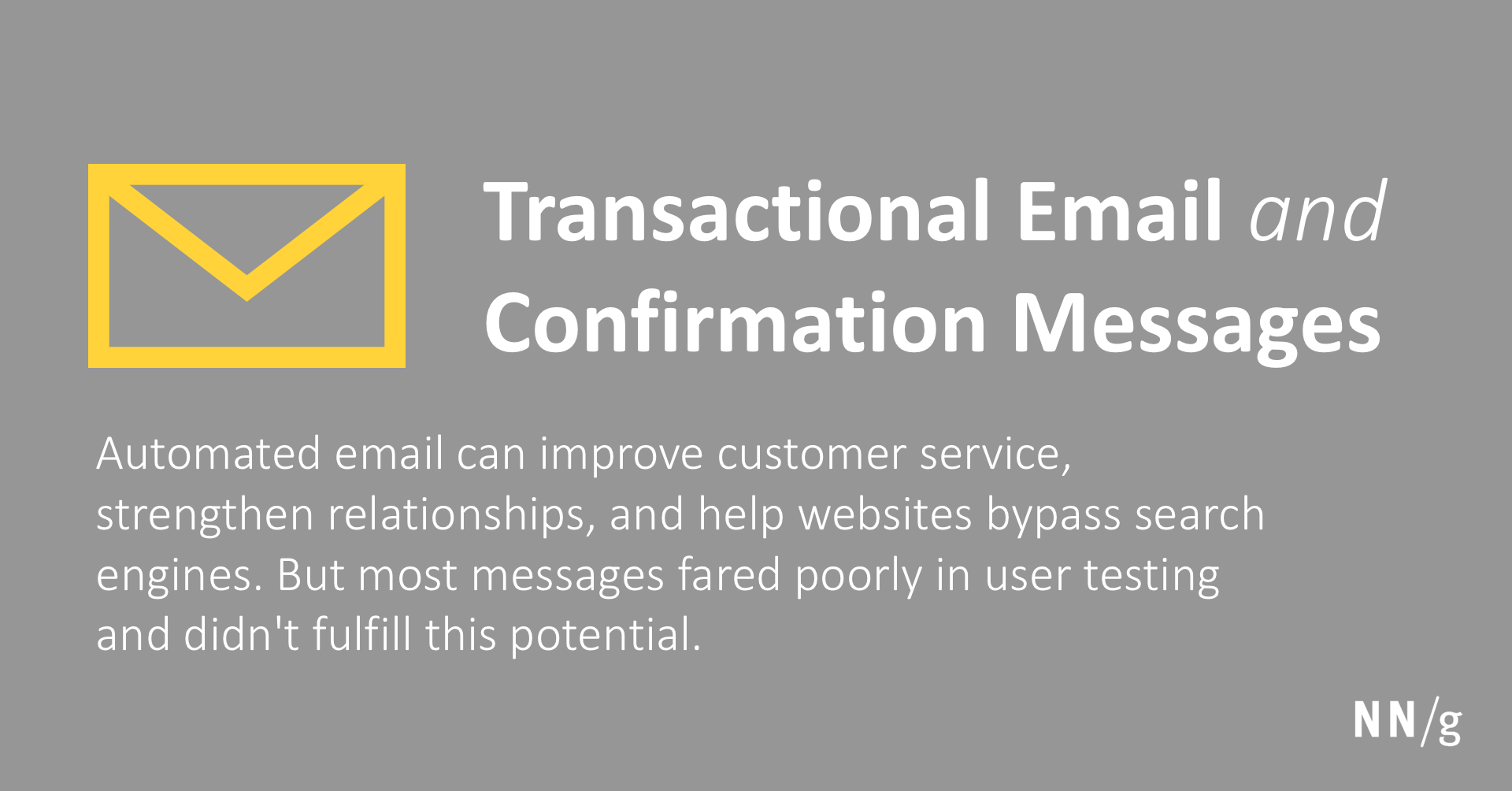Transactional Email And Confirmation Messages