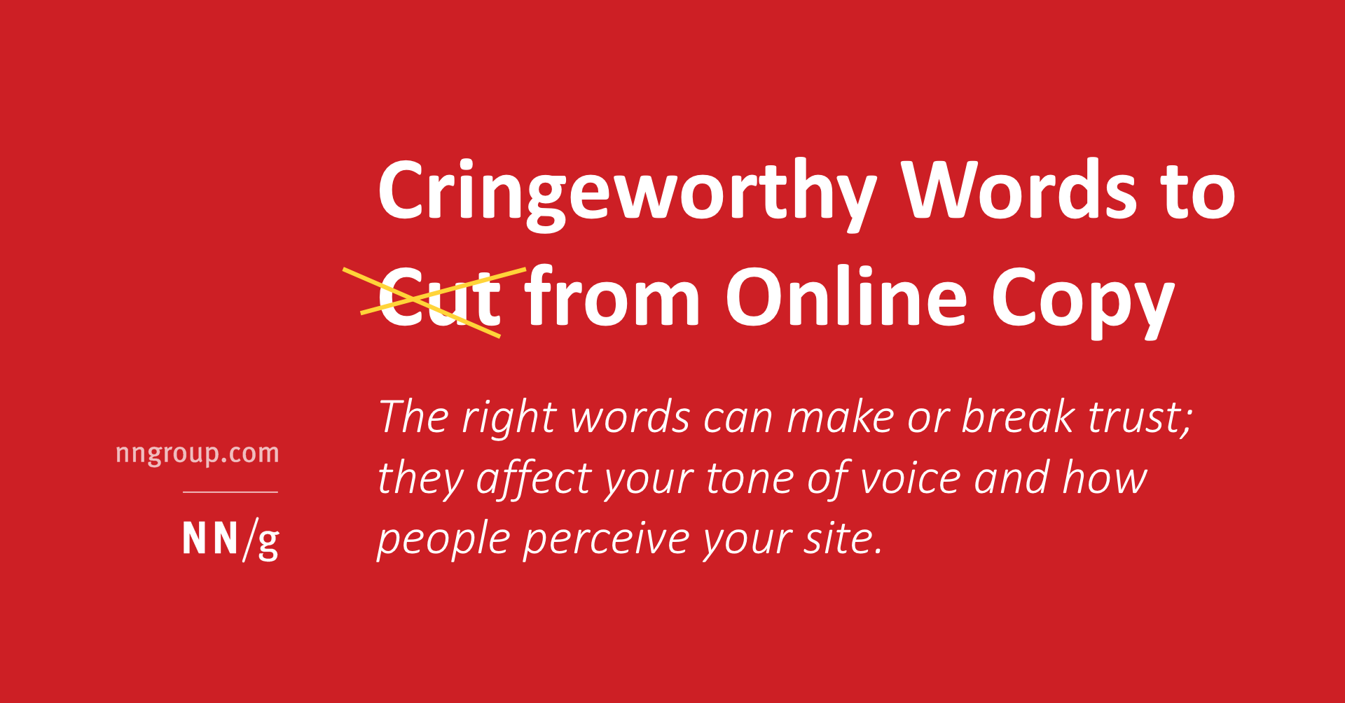 Cringeworthy Words to Cut from Your Online Copy