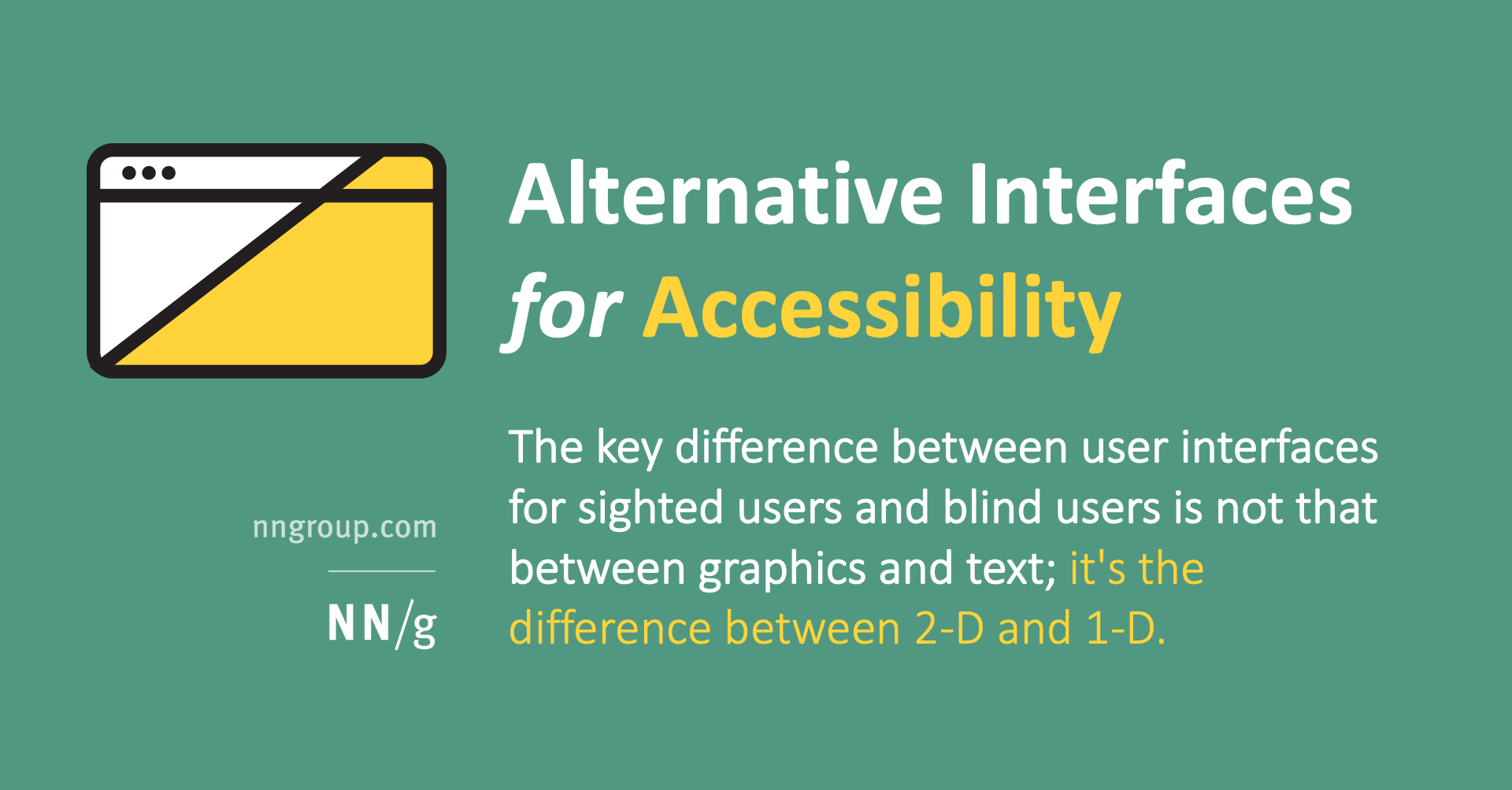 Alternative Interfaces for Accessibility