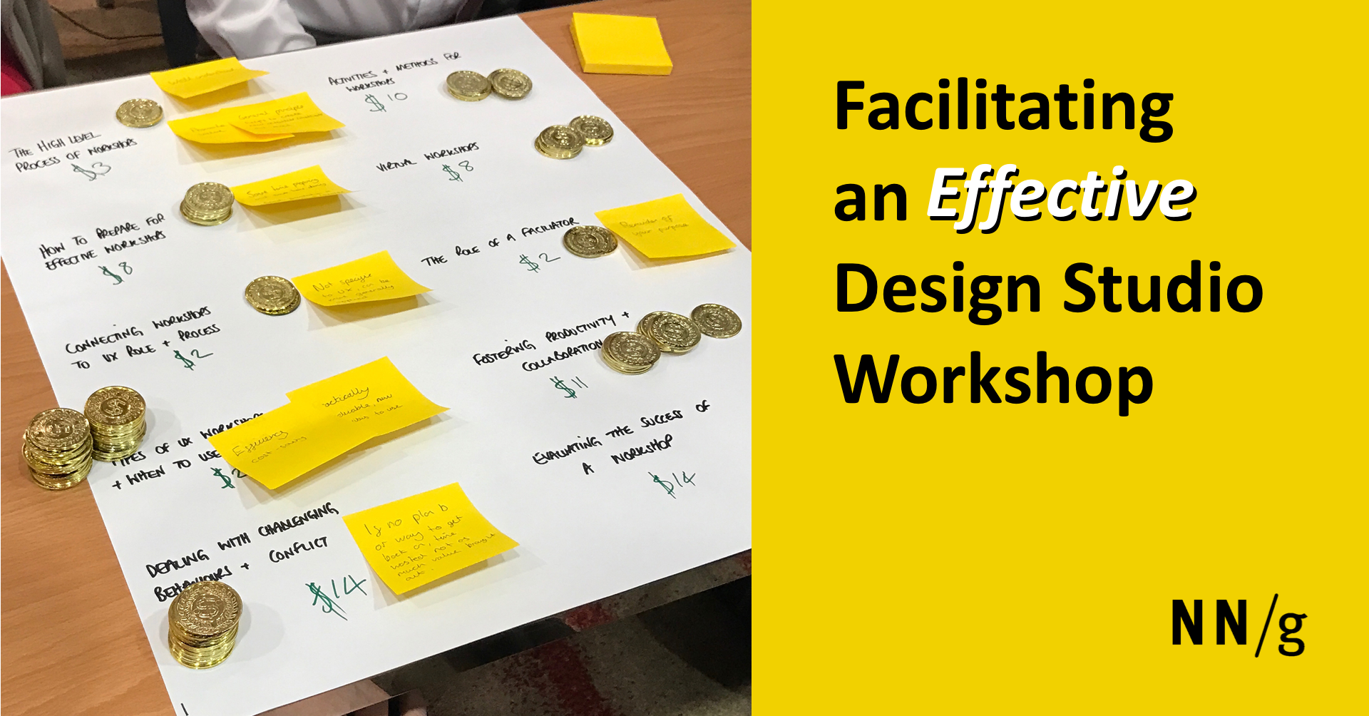 Facilitating an Effective Design Studio Workshop