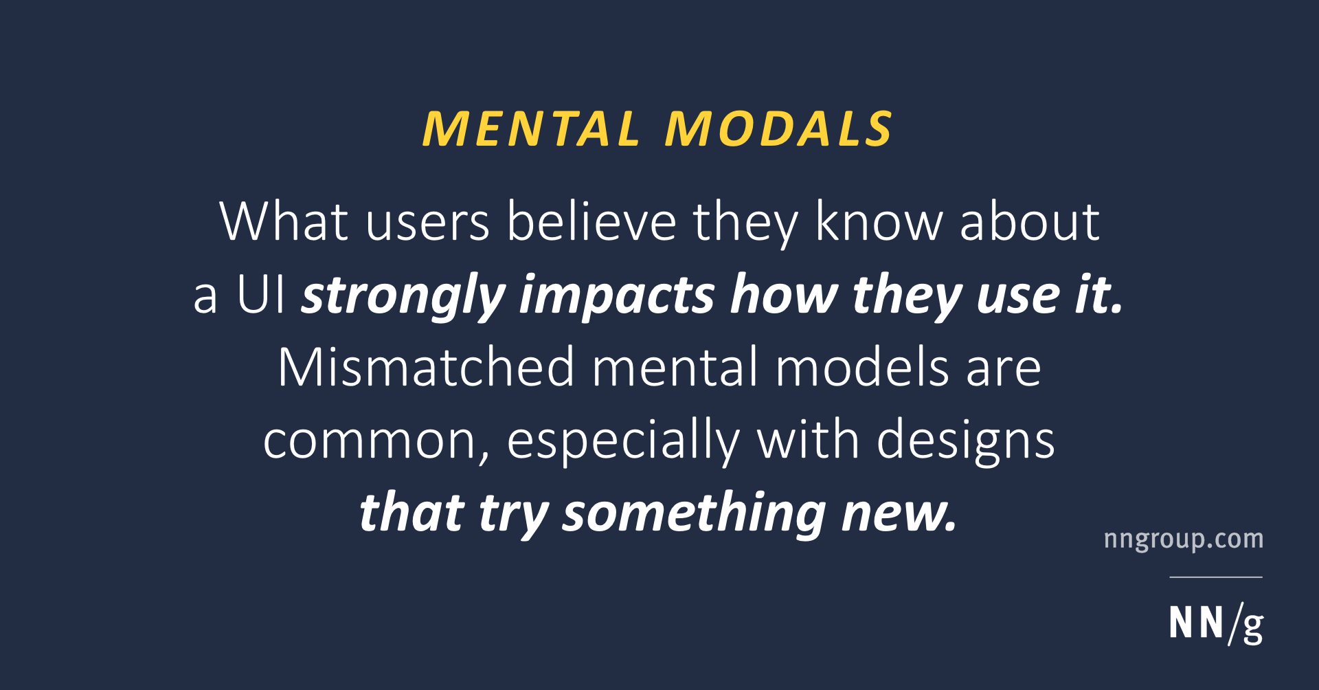 Mental Models And User Experience Design