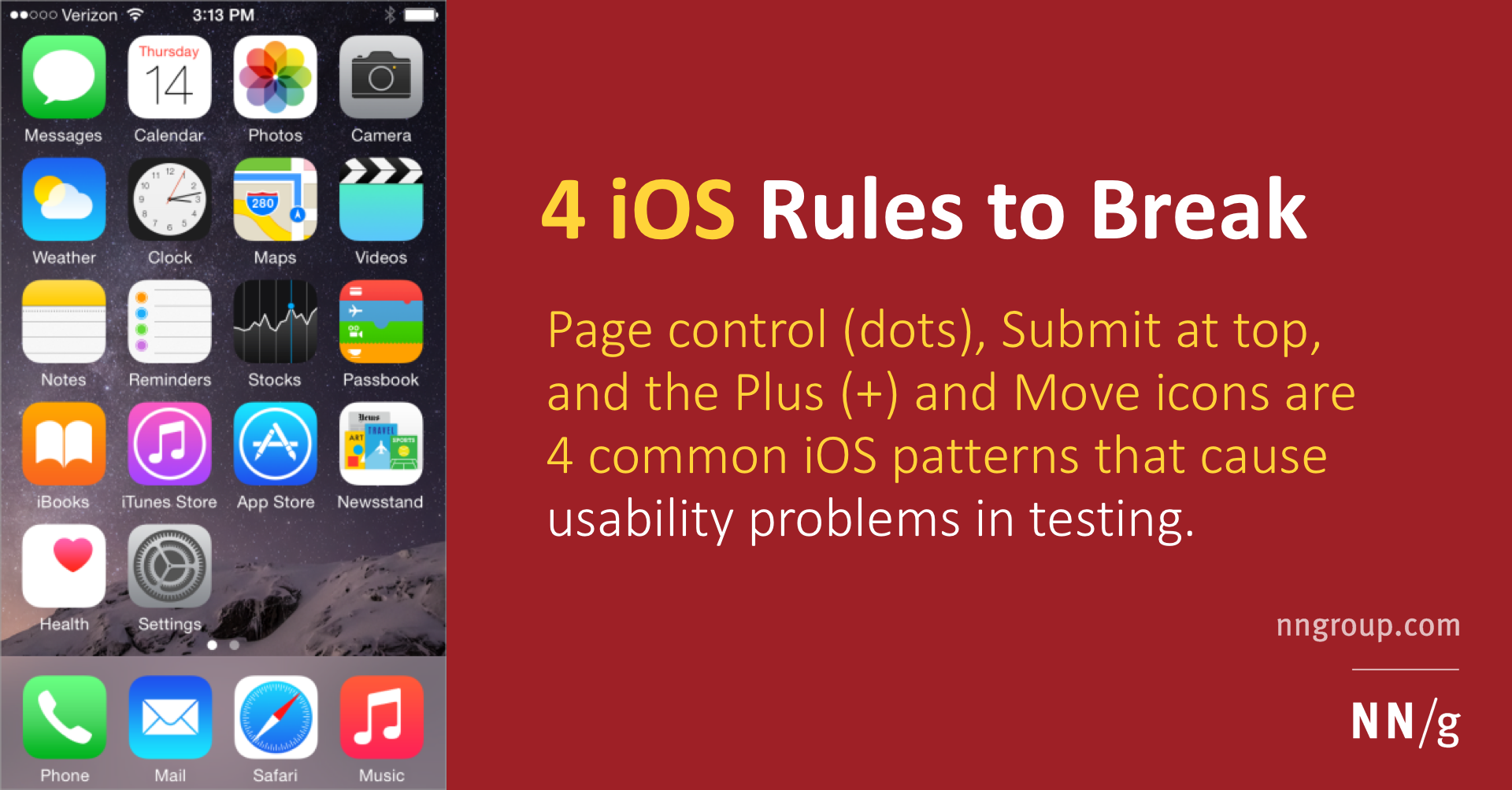 iOS Design Rules to Break