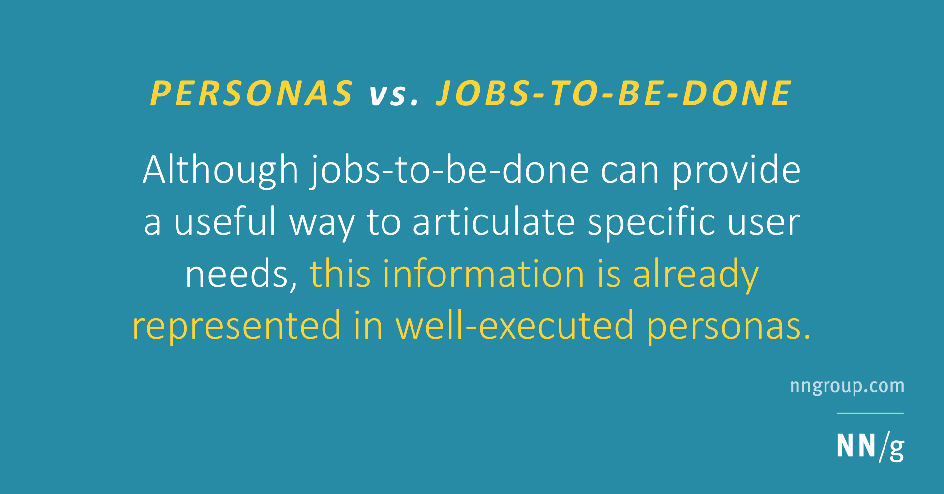 Personas vs. Jobs-to-Be-Done