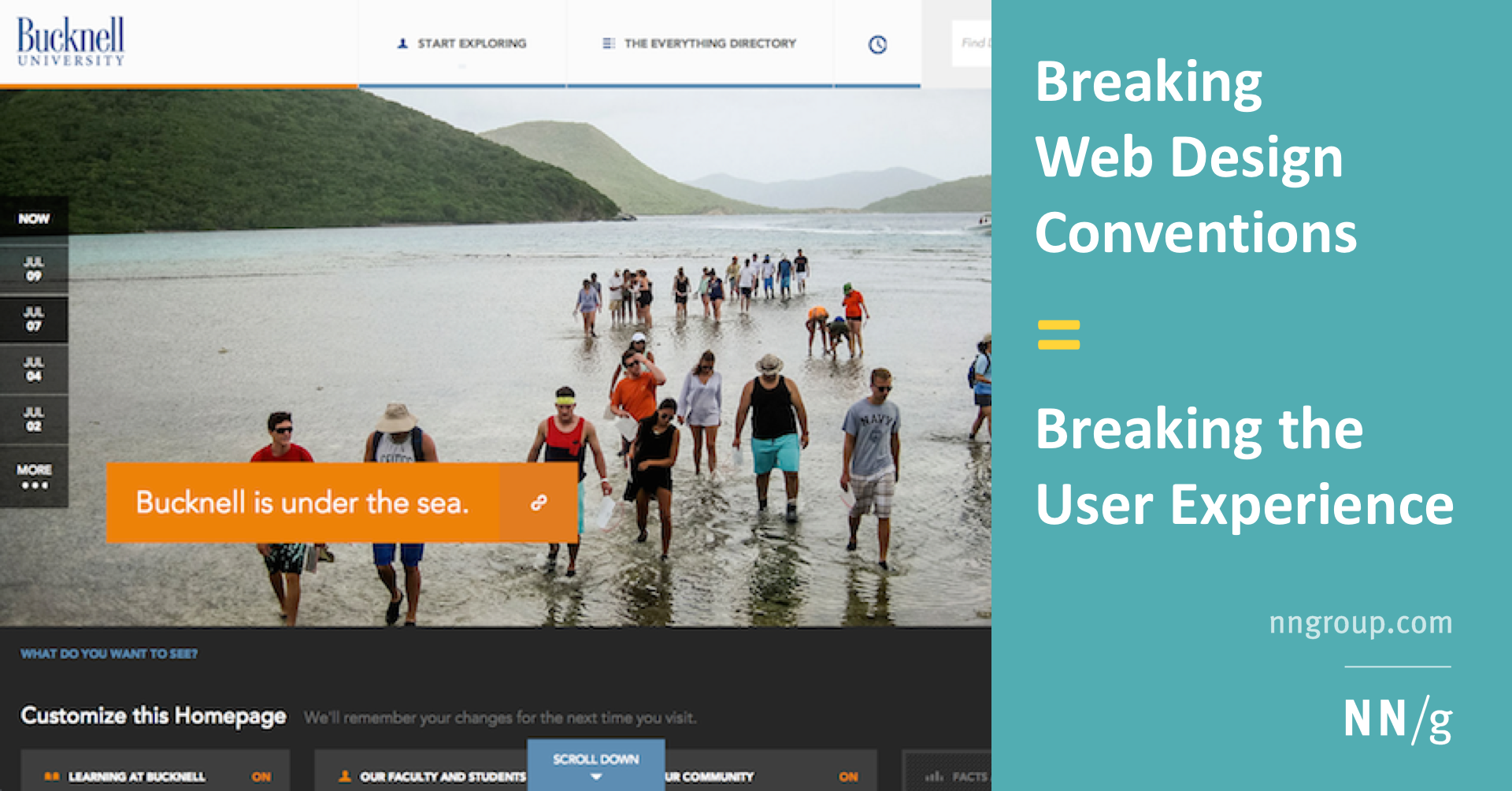 Breaking Web Design Conventions Breaking The User Experience
