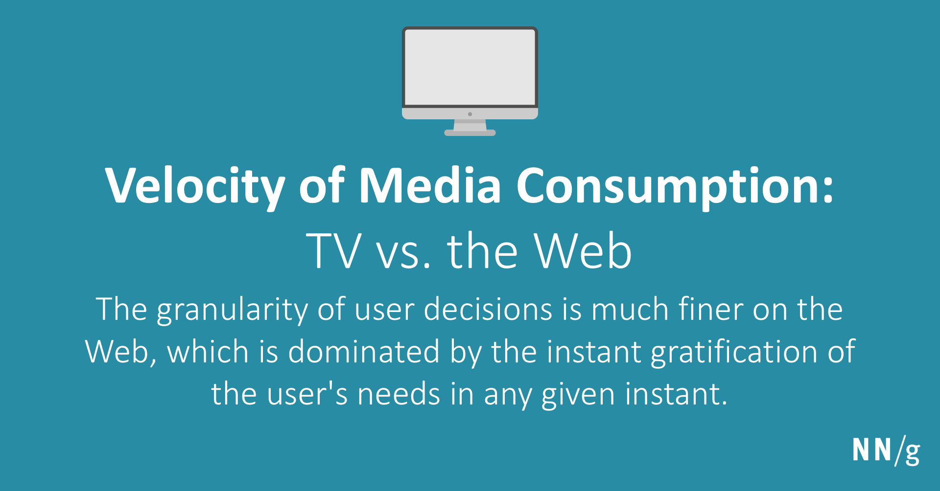 Velocity Of Media Consumption Tv Vs The Web