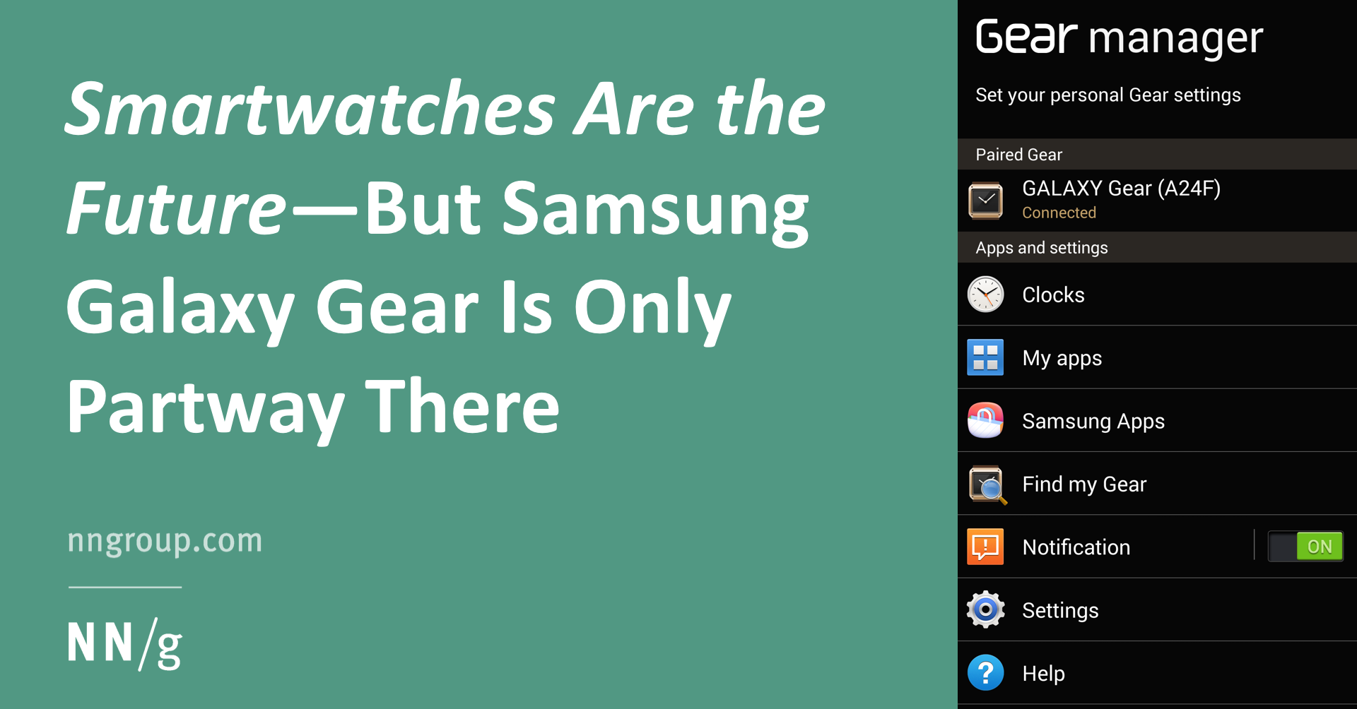 UX Review of Samsung Galaxy Smartwatch