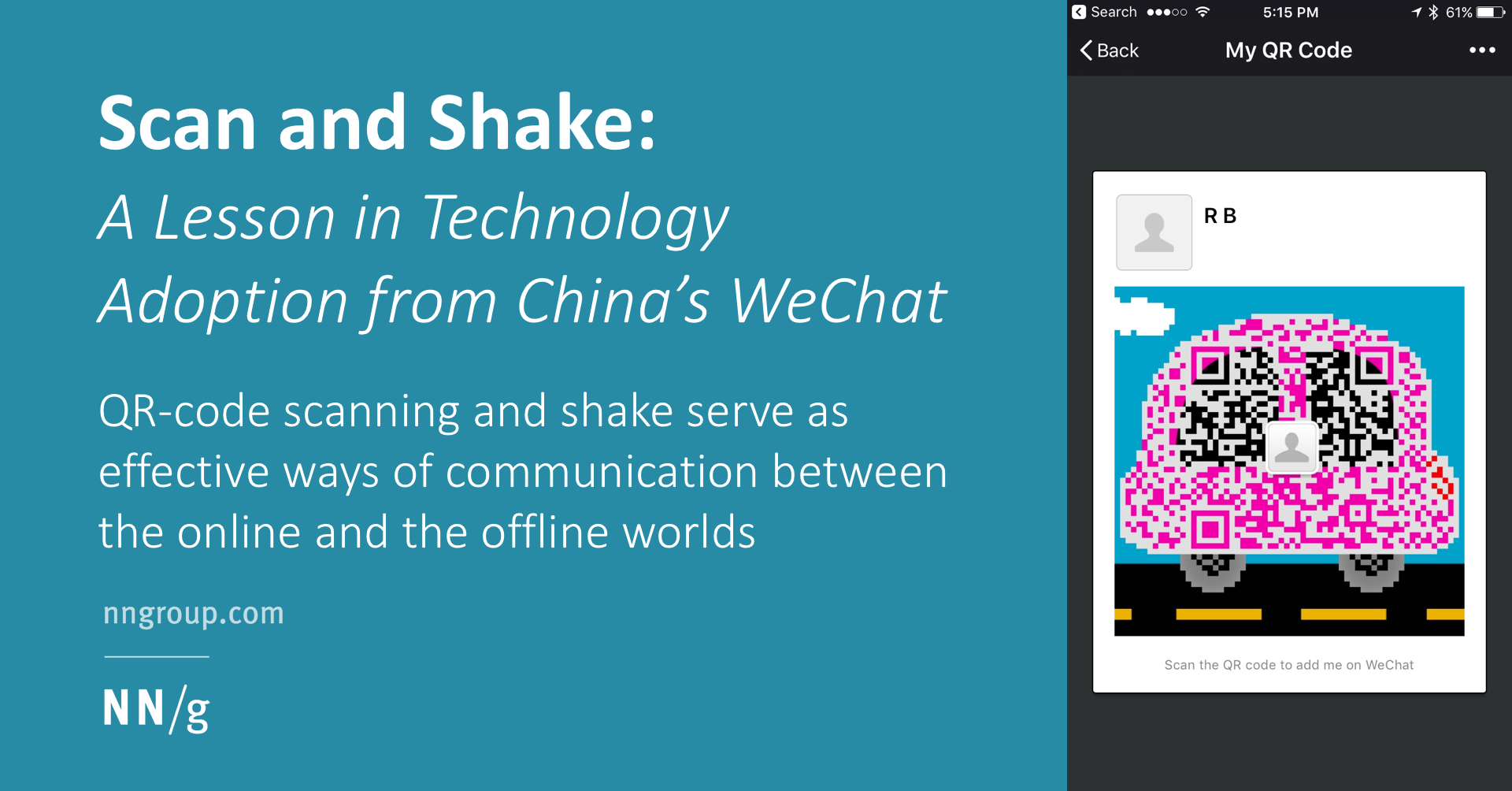 Scan and Shake: A Lesson in Technology Adoption from China's