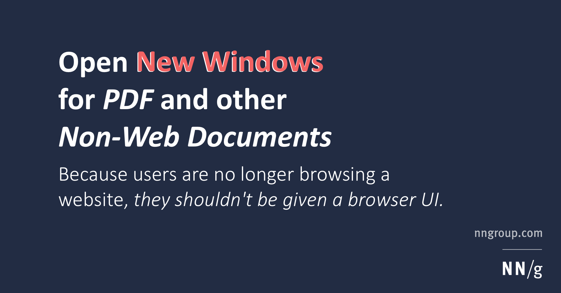 Open New Windows for PDF and other Non-Web Documents