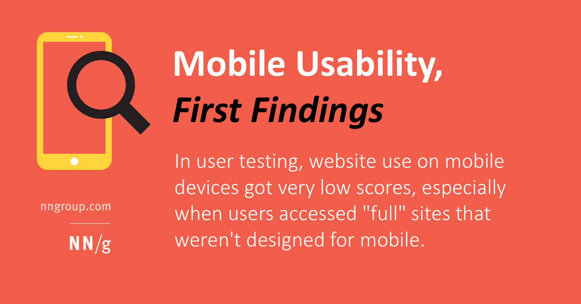 Mobile Usability, First Findings
