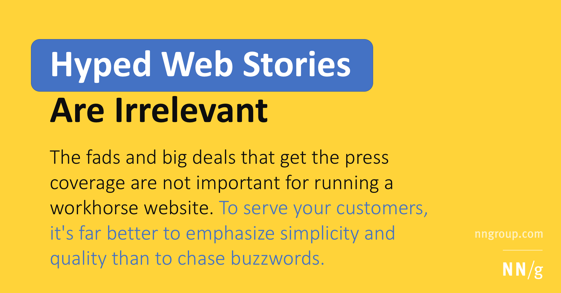 Hyped Web Stories Are Irrelevant
