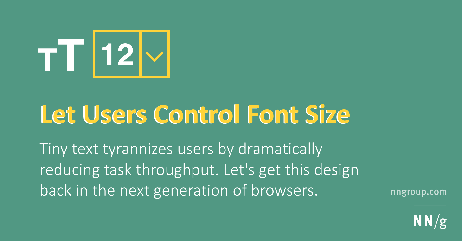Let Users Control Font Size