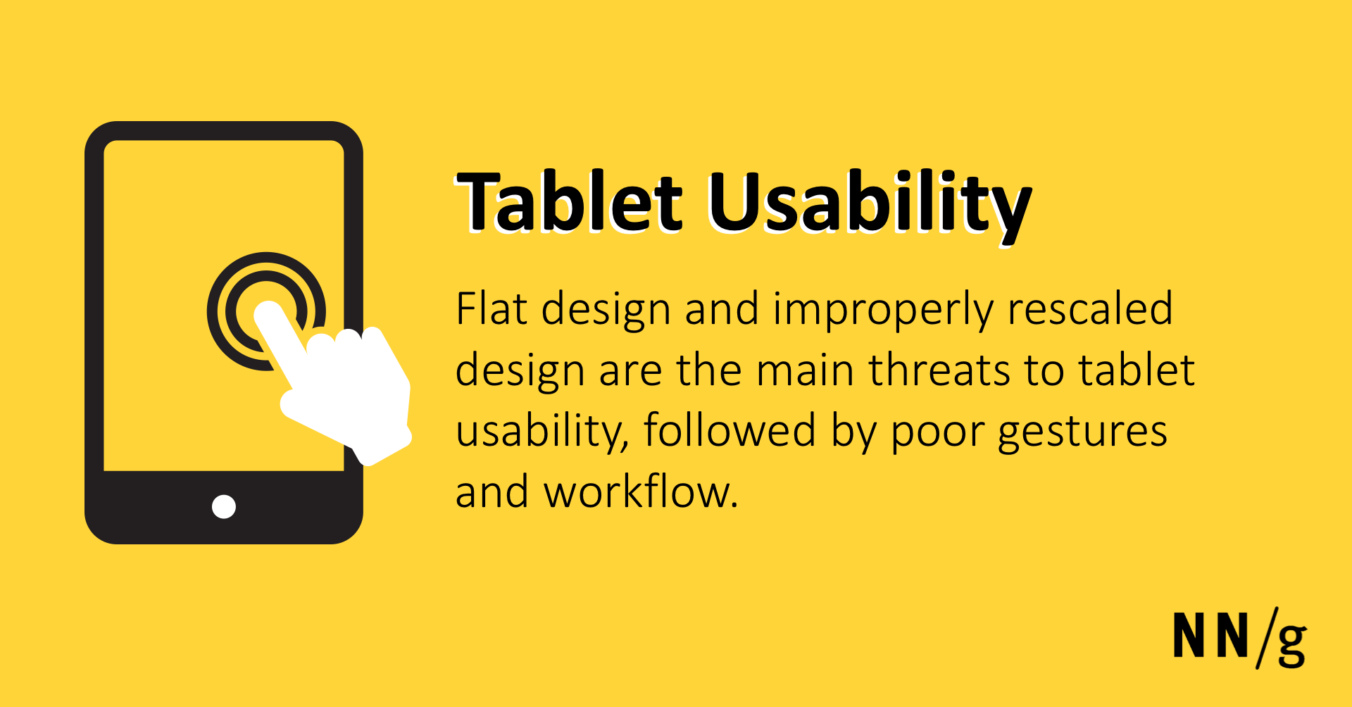 Tablet Usability: Findings from User Research