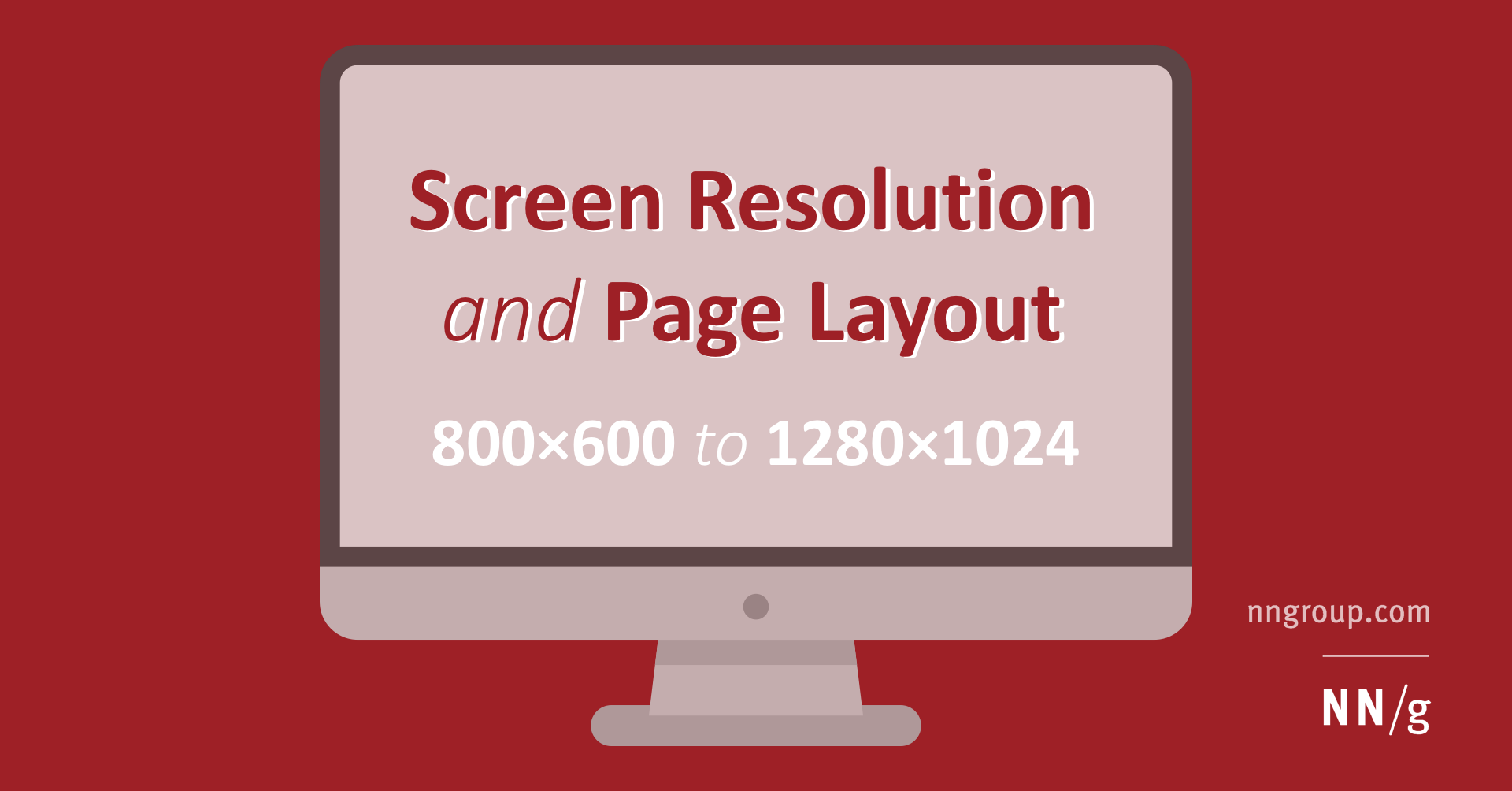 screen resolution and page layout