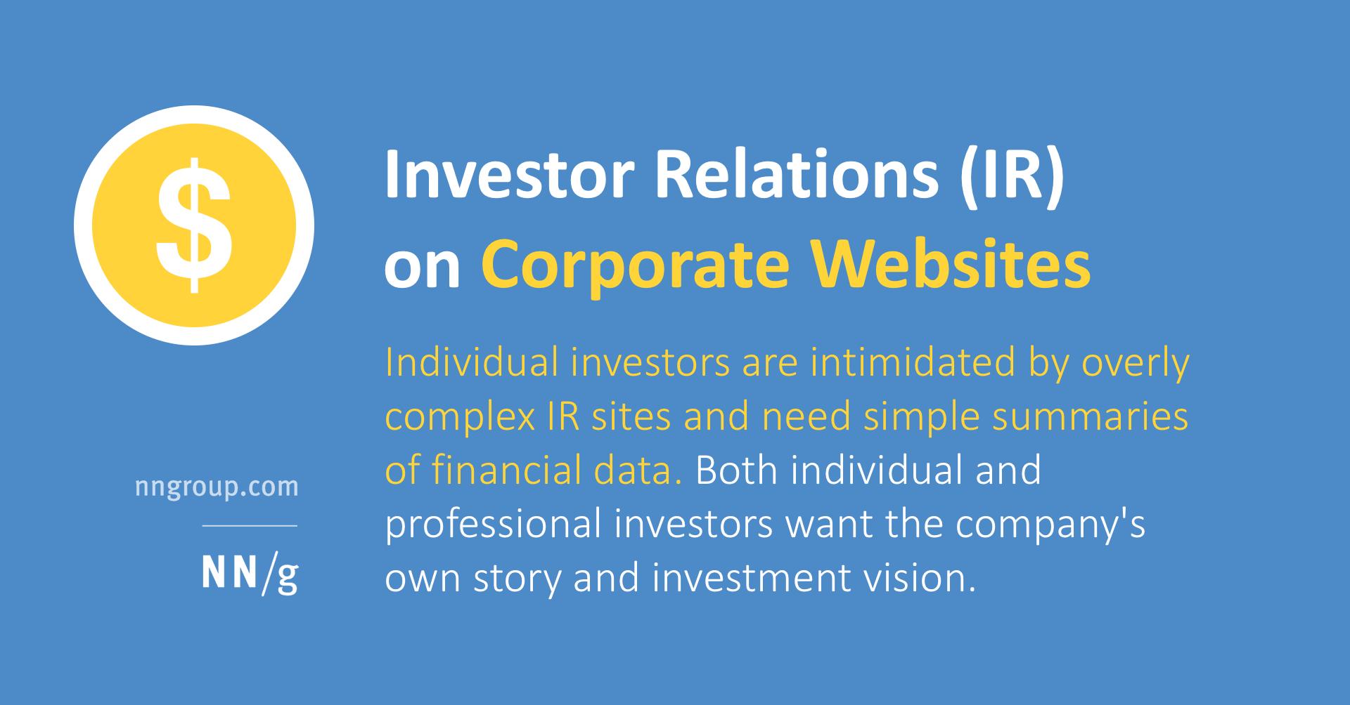 Corporate Investor Relations