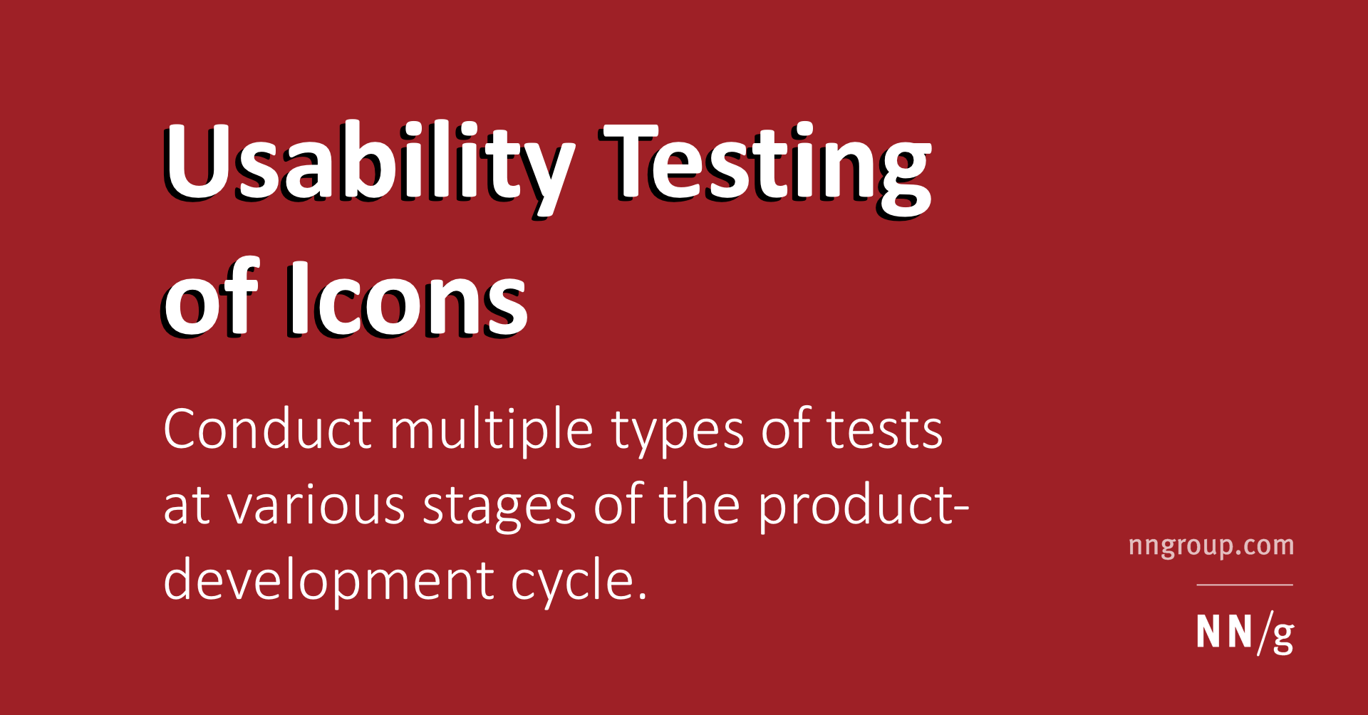 Usability Testing Of Icons