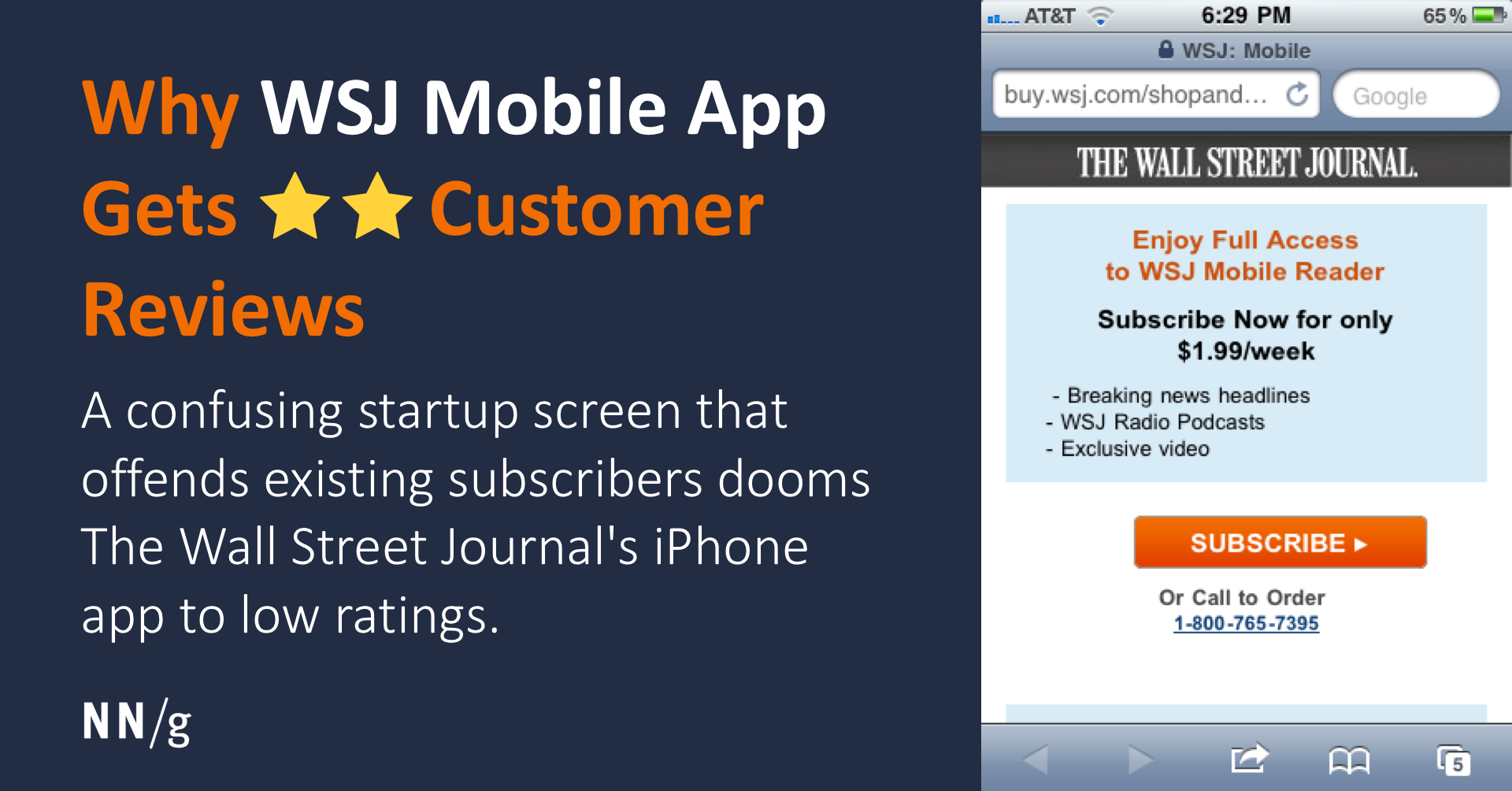 Why WSJ Mobile App Gets ** Customer Reviews
