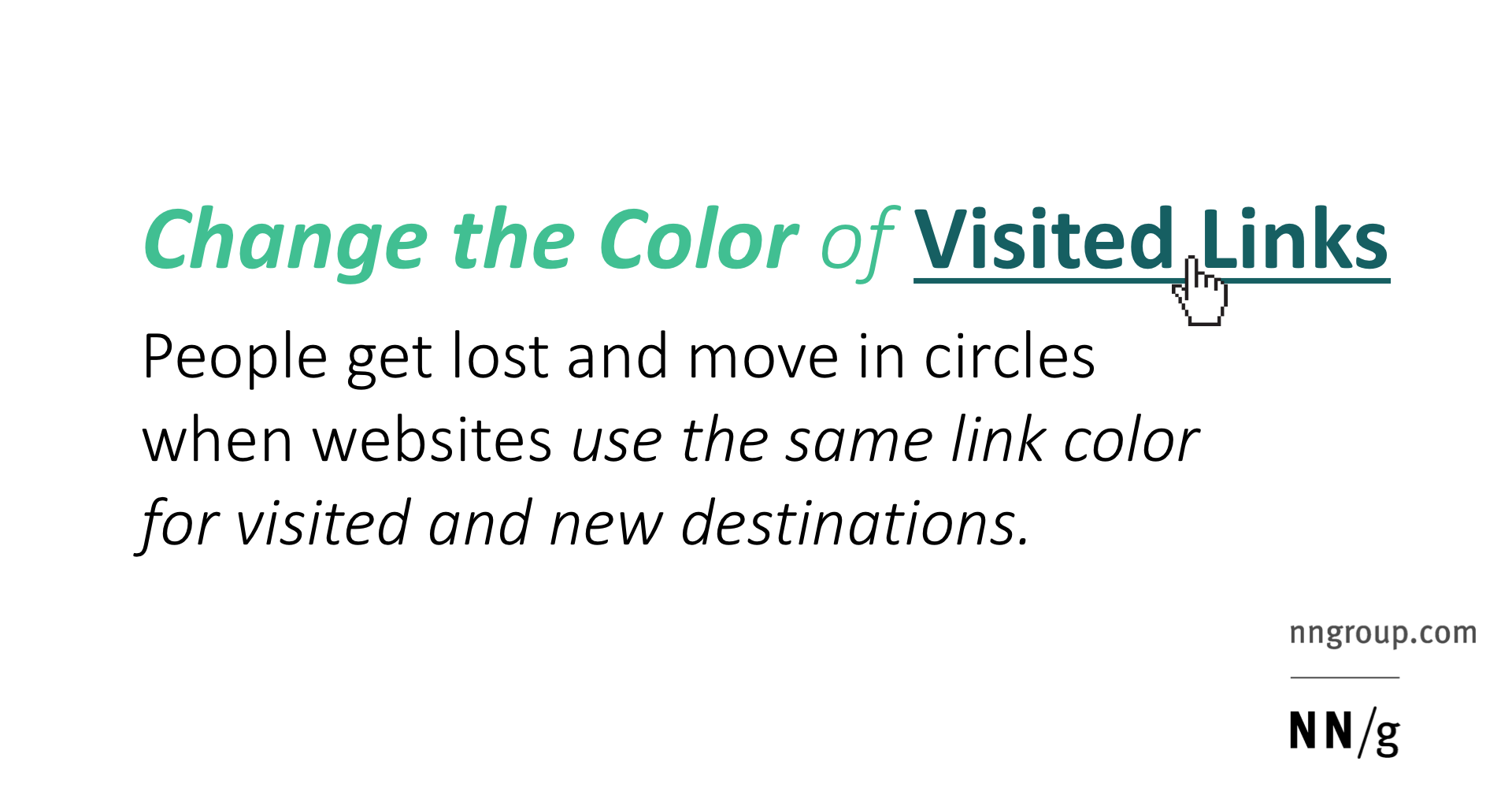 Change the Color of Visited Links
