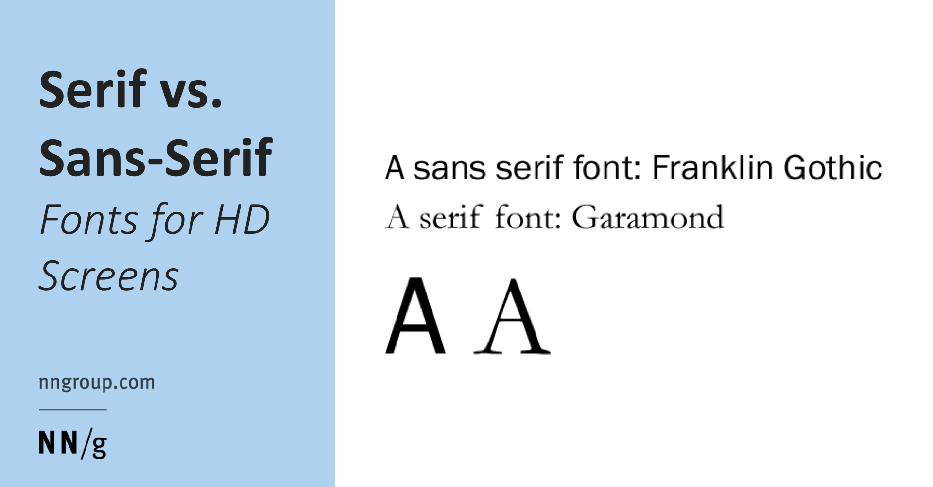 Serif Vs Sans Serif Fonts For Hd Screens