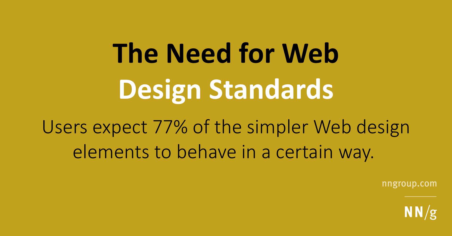 The Need for Web Design Standards