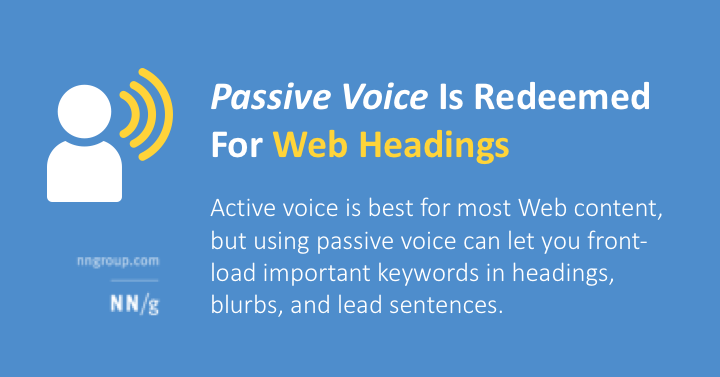 what are two reasons to avoid using passive voice