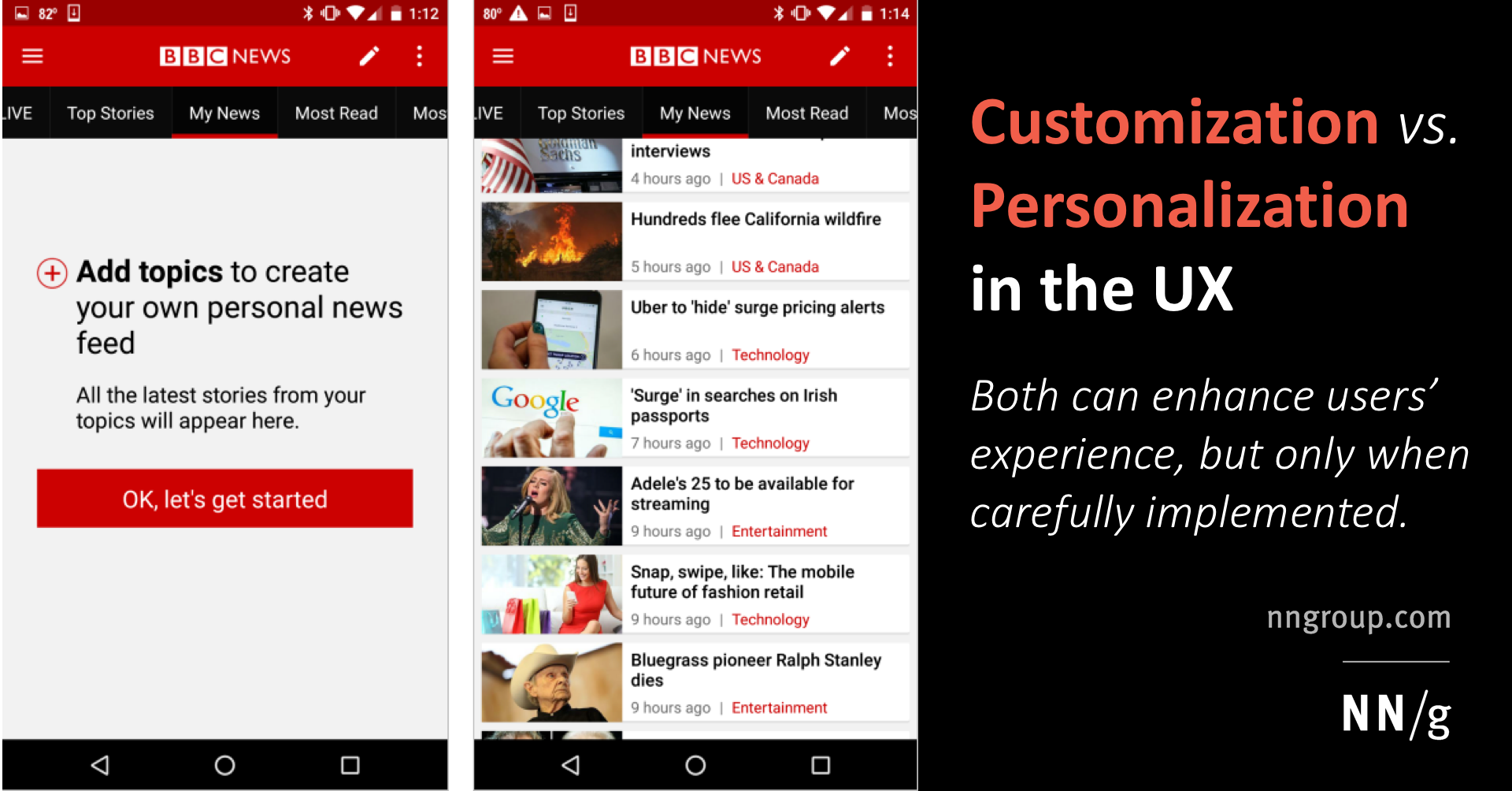 Customization Vs Personalization In The User Experience