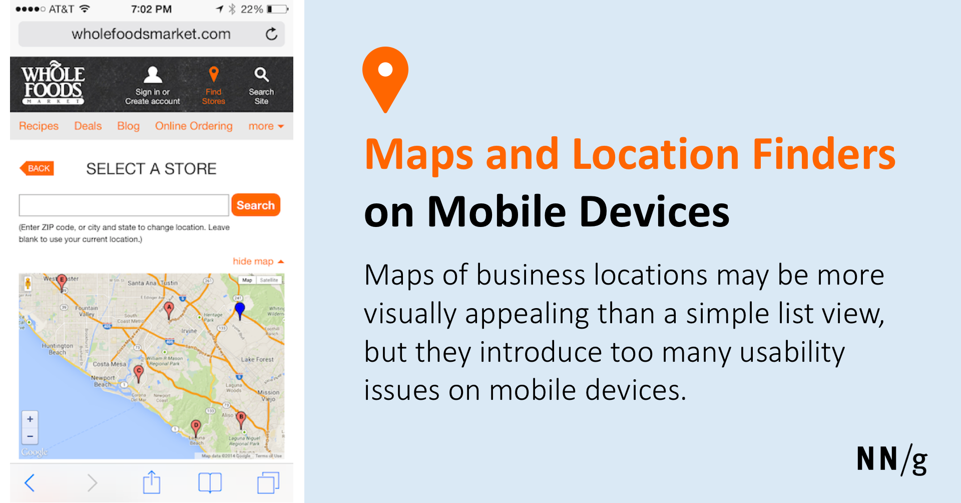 Maps and Location Finders on Mobile Devices
