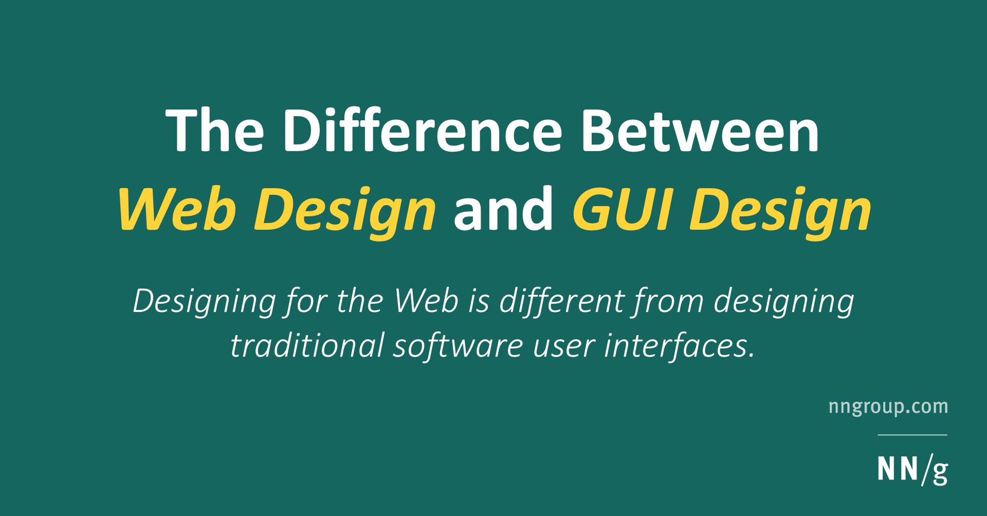 The Difference Between Web Design and GUI Design
