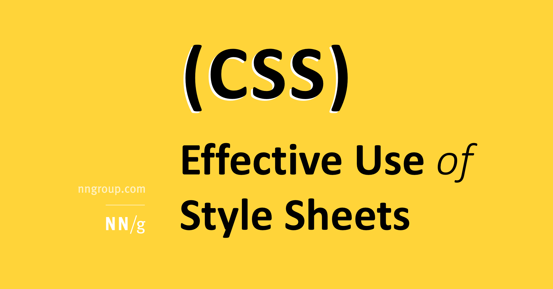 Effective Use Of Style Sheets