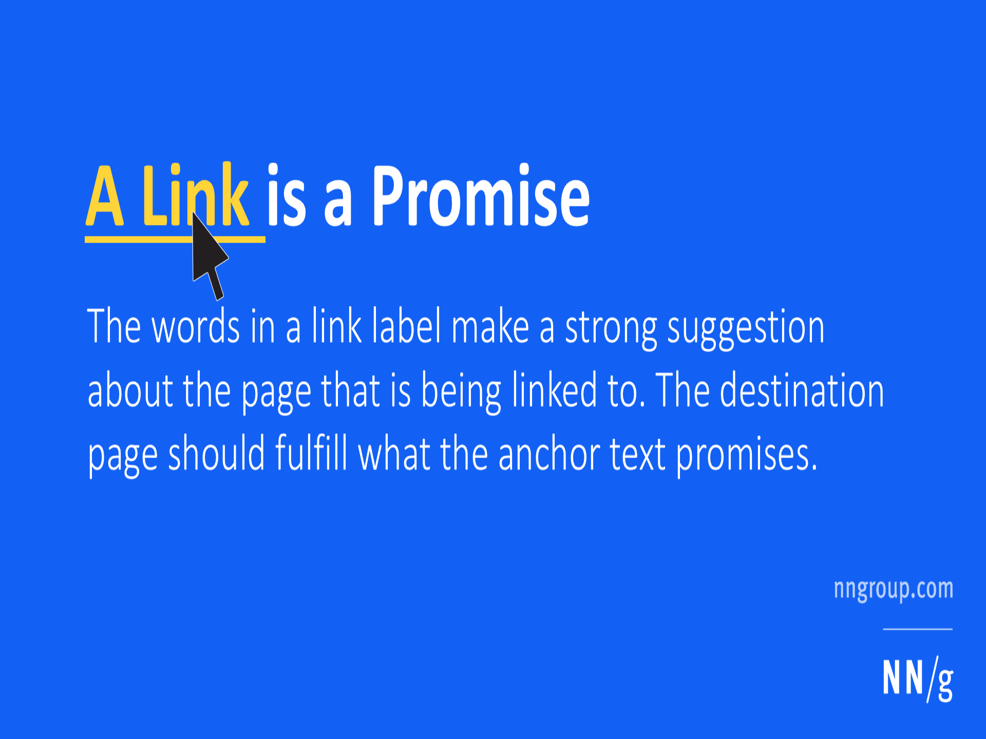 A Link is a Promise