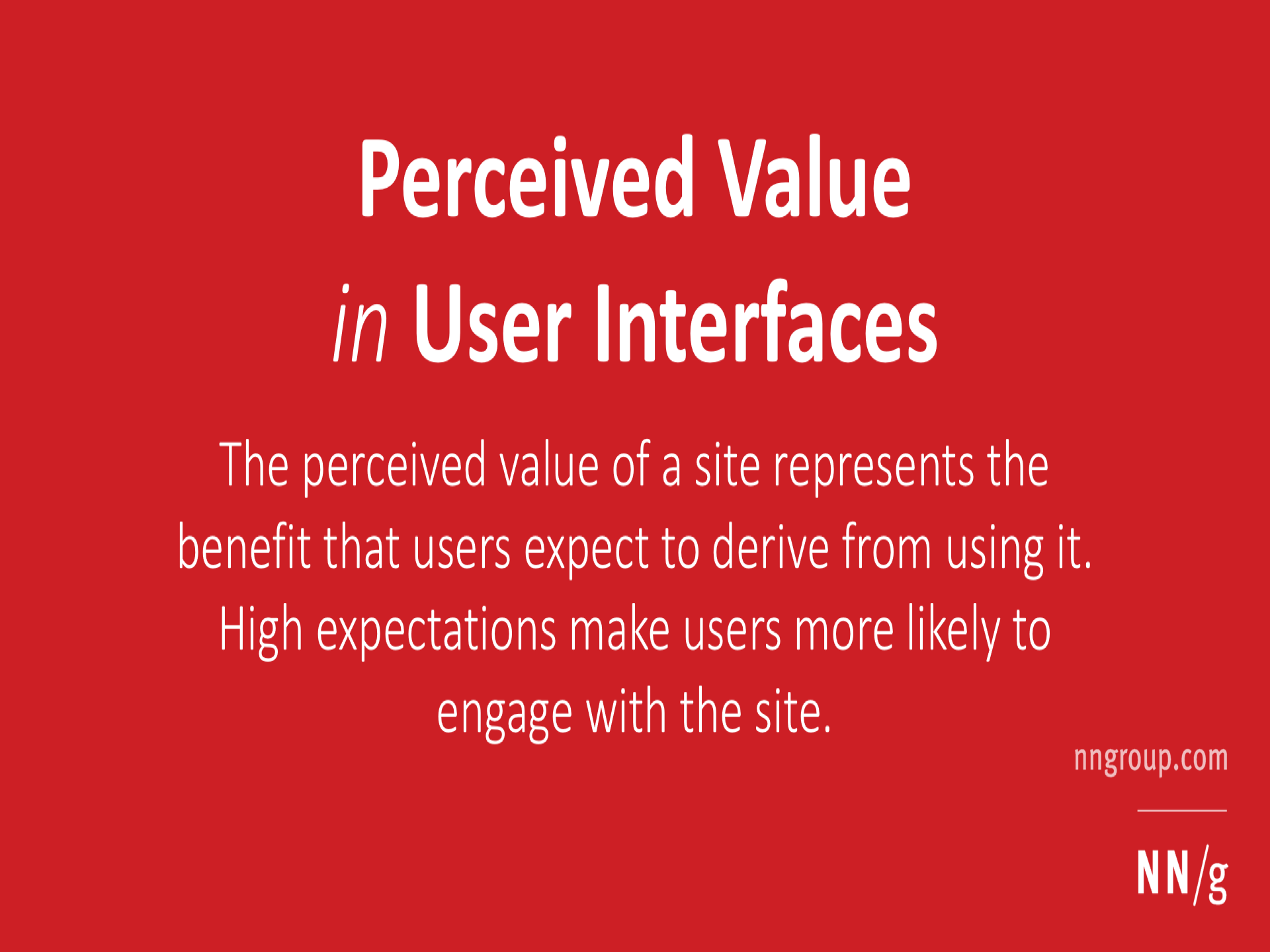perceived value in user interfaces