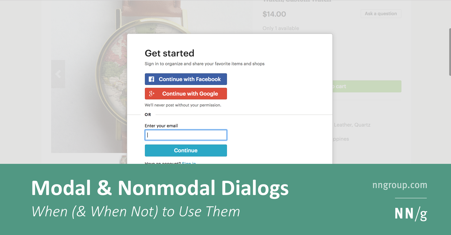 Modal & Nonmodal Dialogs: When (& When Not) to Use Them